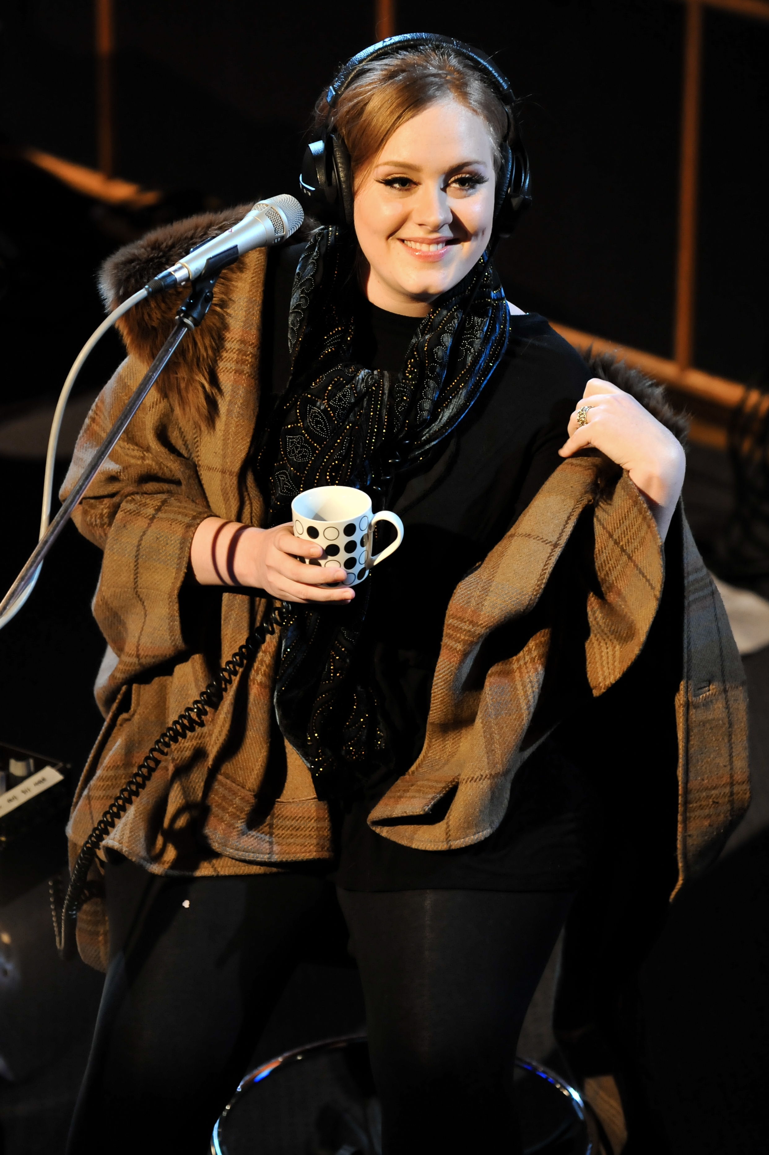 Adele performs a Live Lounge Special for BBC Radio 1 at BBC Maida Vale Studios in London on Jan. 27, 2011.