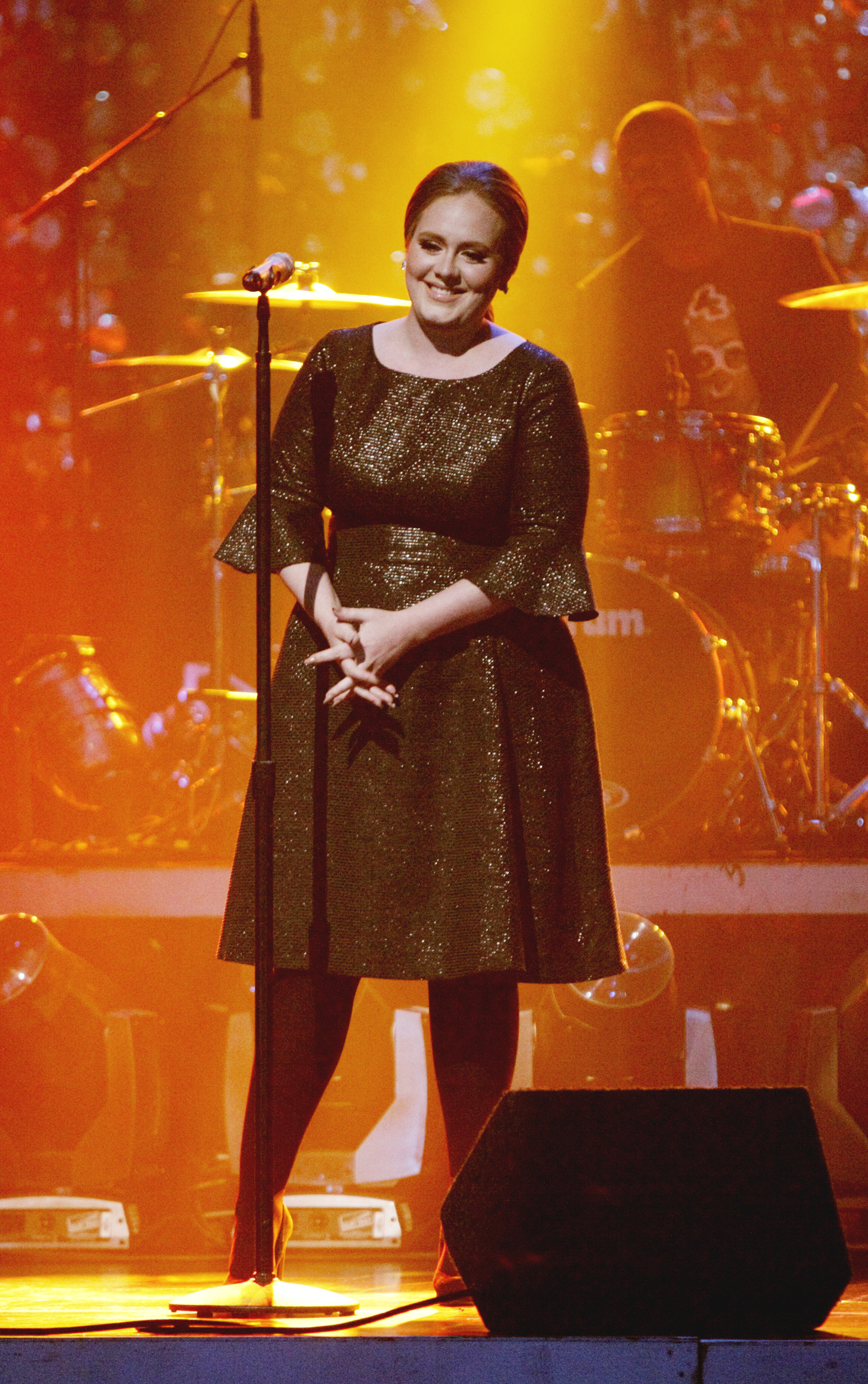 "Adele performing ""Rolling in the Deep"" on ABC's ""Dancing with the Stars - the Results Show,"" on May 10, 2011."