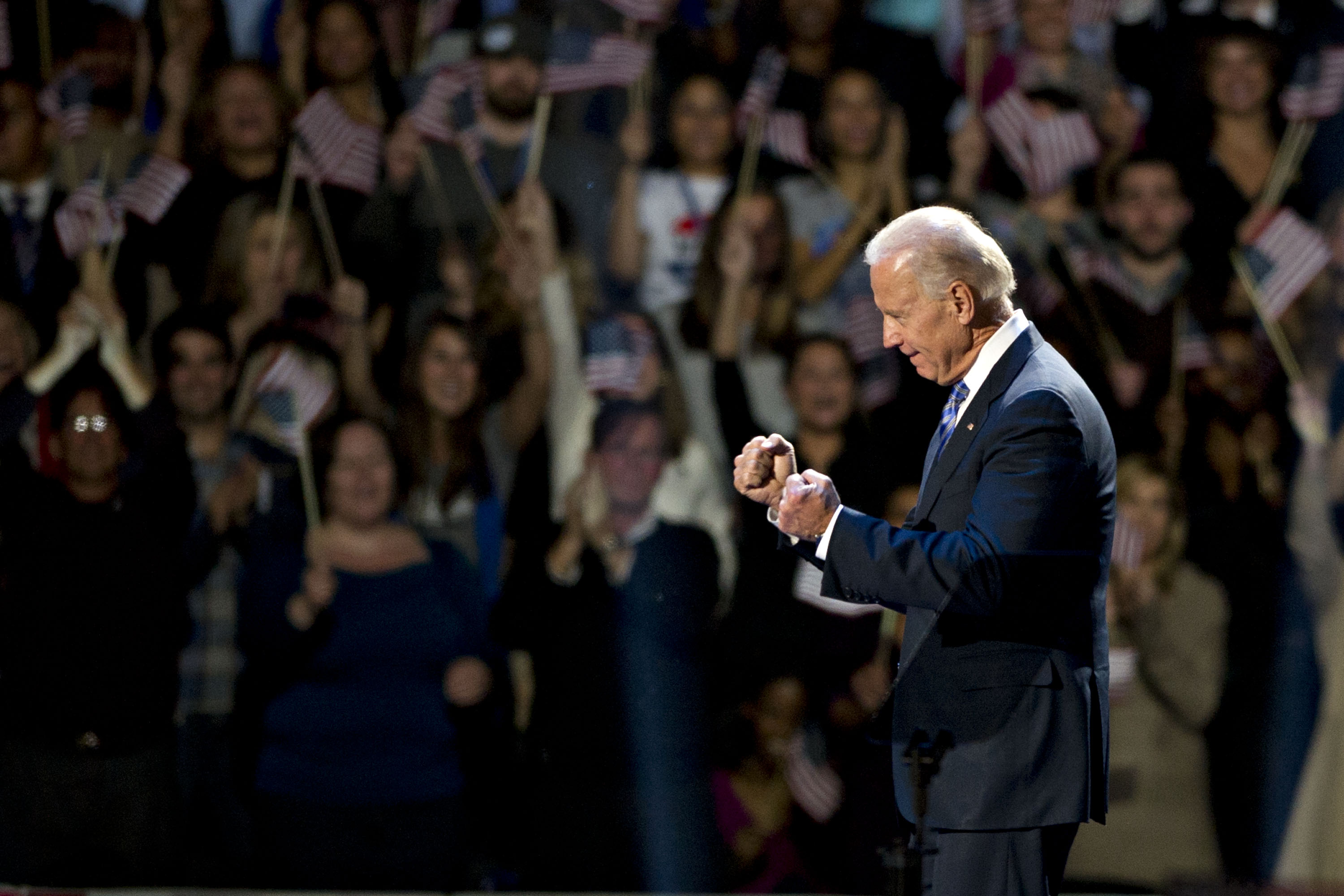 Vice President Joe Biden during an election night rally in Chicago, on Nov. 7, 2012.
