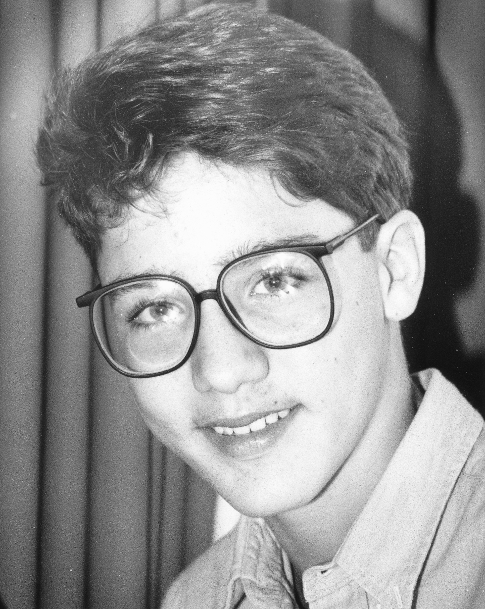 Justin Trudeau pictured at age 14 in Toronto, in 1986.