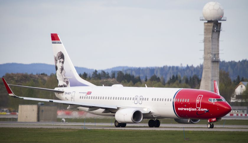 A Norwegian Air jet.