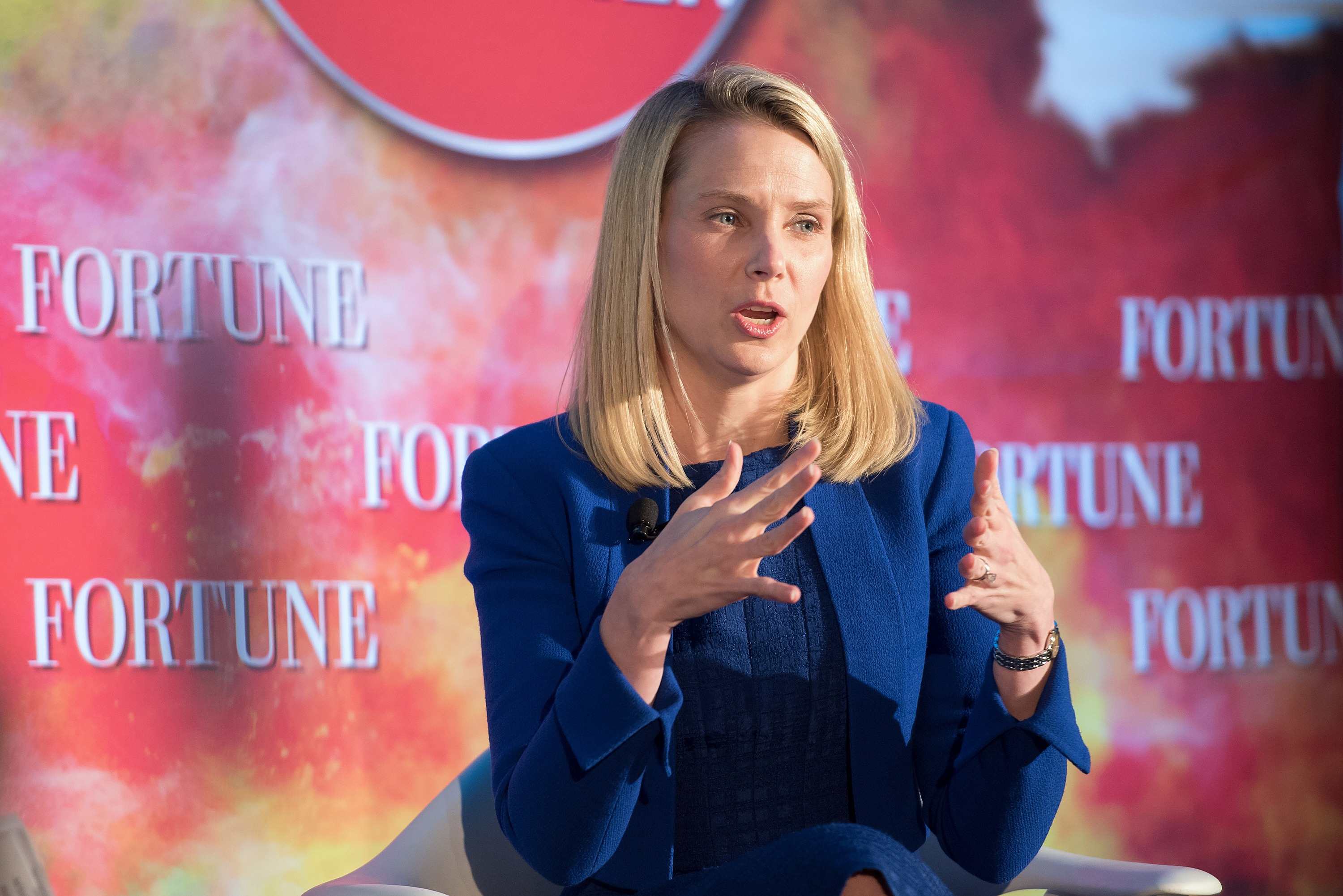 President and CEO of Yahoo Marissa Mayer attends Fortune Magazines 2015 Most Powerful Women Evening With NYC at Time Warner Center in New York City, on May 18, 2015.