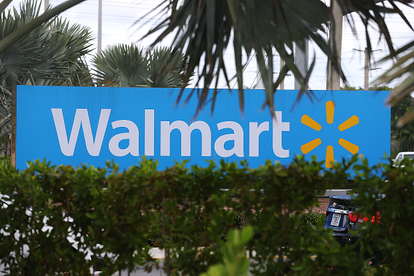 A Walmart sign is seen on Aug. 18, 2015, in Miami, Fla.