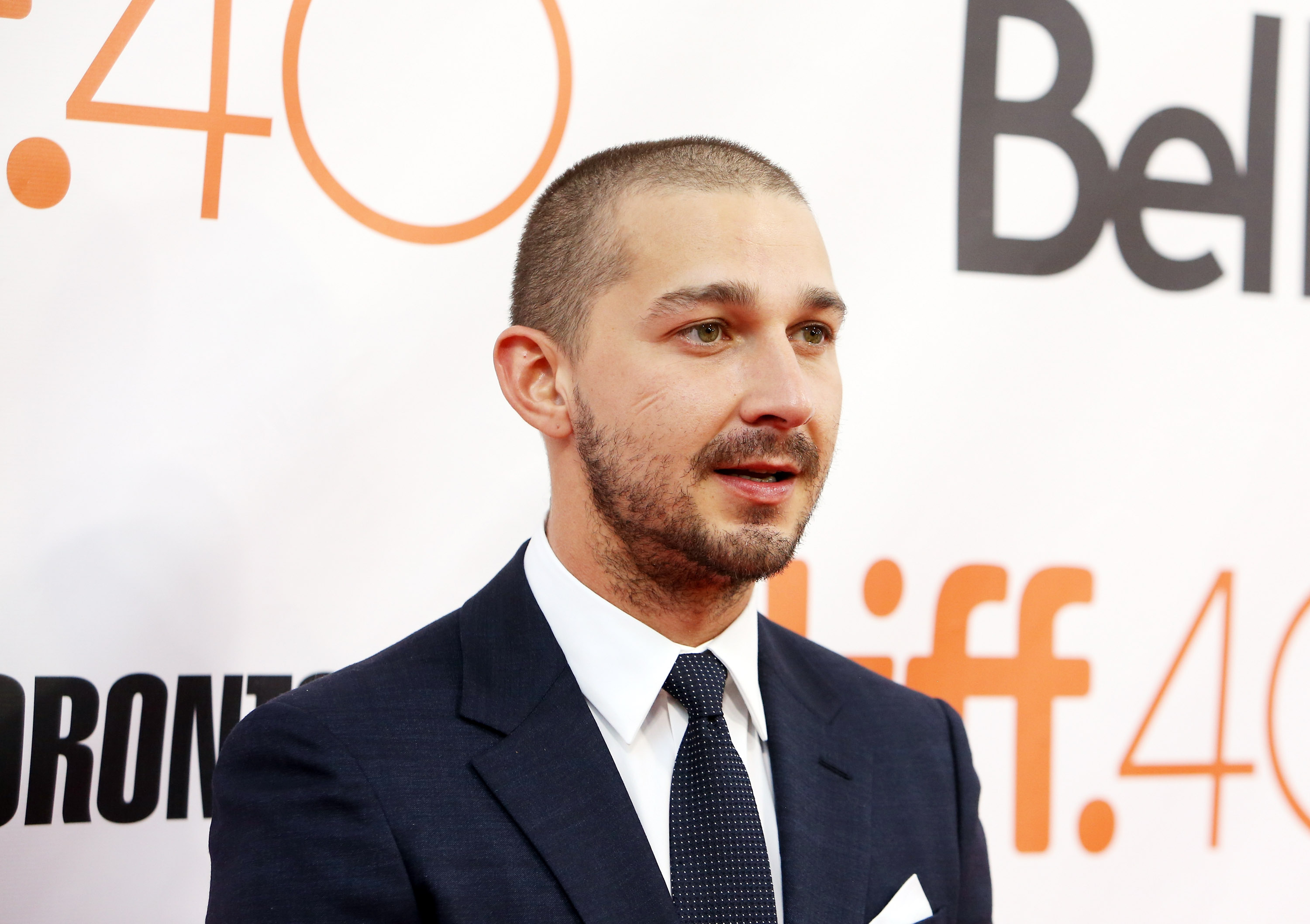 Shia LaBeouf arrives at the  Man Down  premiere during 2015 Toronto International Film Festival held at Roy Thomson Hall on Sept. 15, 2015 in Toronto, Canada.