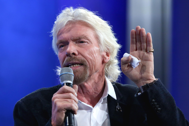 Billionaire entrepreneur Sir Richard Branson, founder of Virgin Group, speaks at the Clinton Global Initiative Annual Meeting, in New York City, on September 28, 2015.