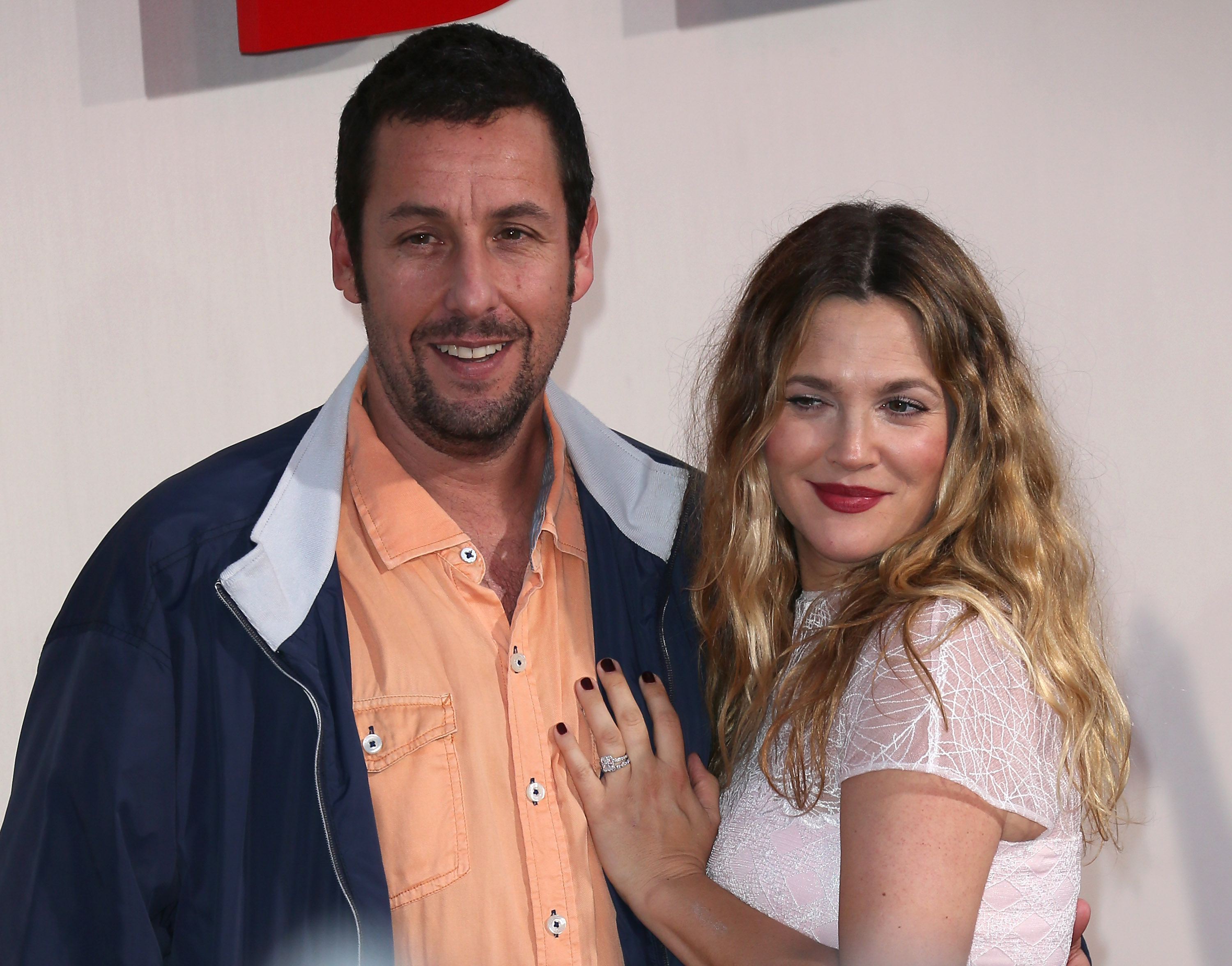 Actors Adam Sandler and Drew Barrymore attend the Los Angeles premiere of  Blended  at the TCL Chinese Theatre on May 21, 2014 in Hollywood, California.