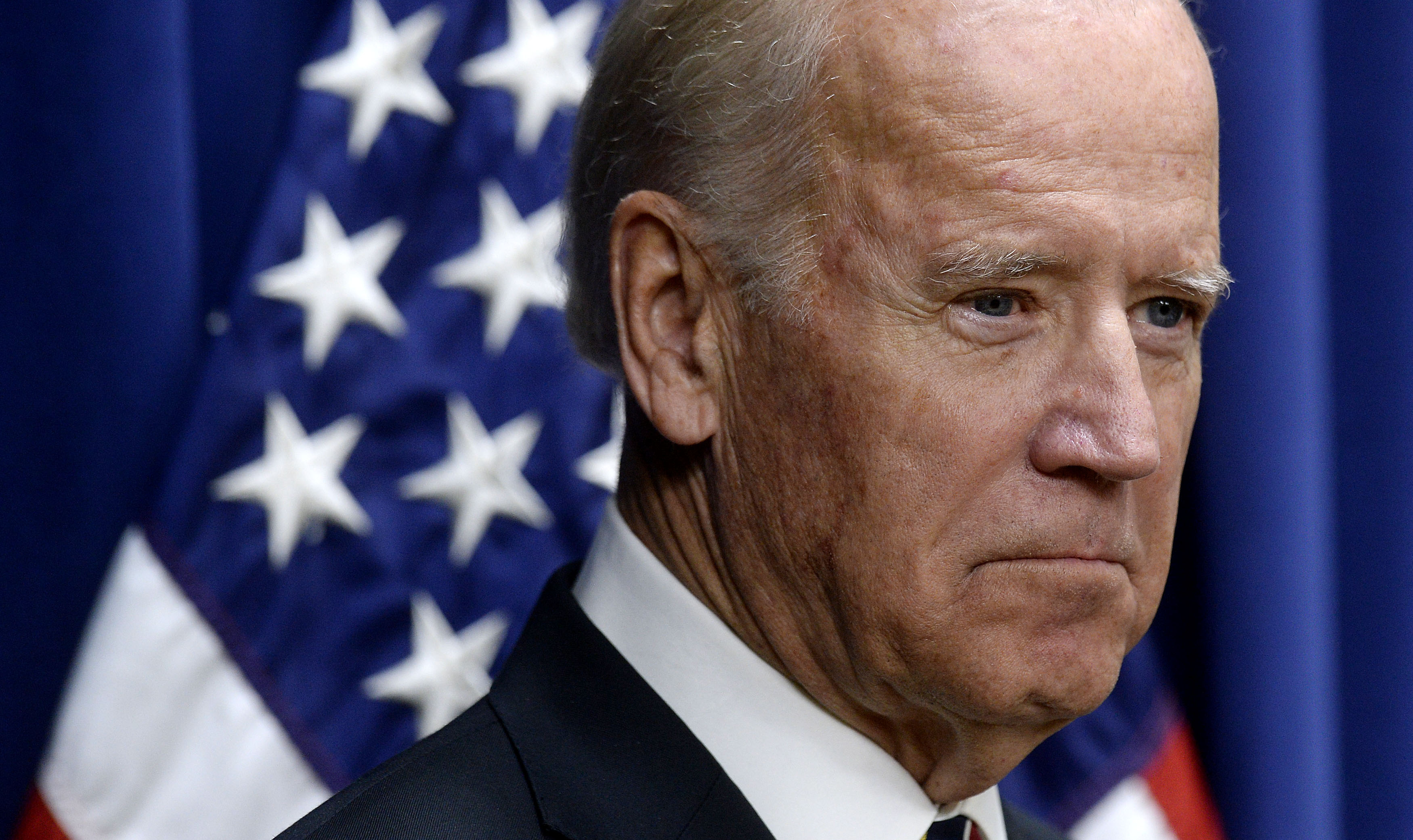 Joe Biden looks on during a climate summit event at the Eisenhower Executive Office Building in Washington, on Oct. 19, 2015.
