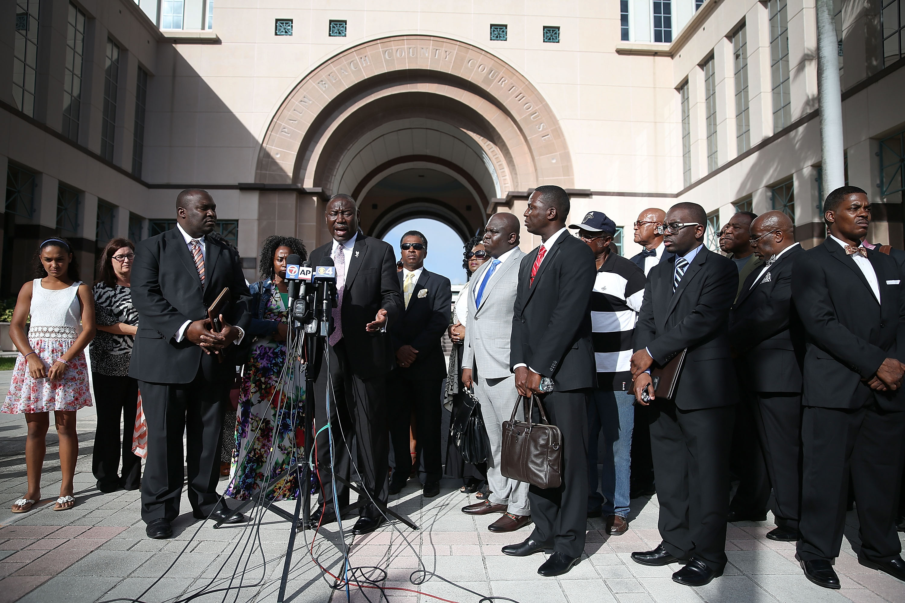 Benjamin Crump, an attorney for the Corey Jones' family, speaks to the media during a press conference to address the shooting of Mr. Jones, in West Palm Beach, Florida, on Oct. 22, 2015.