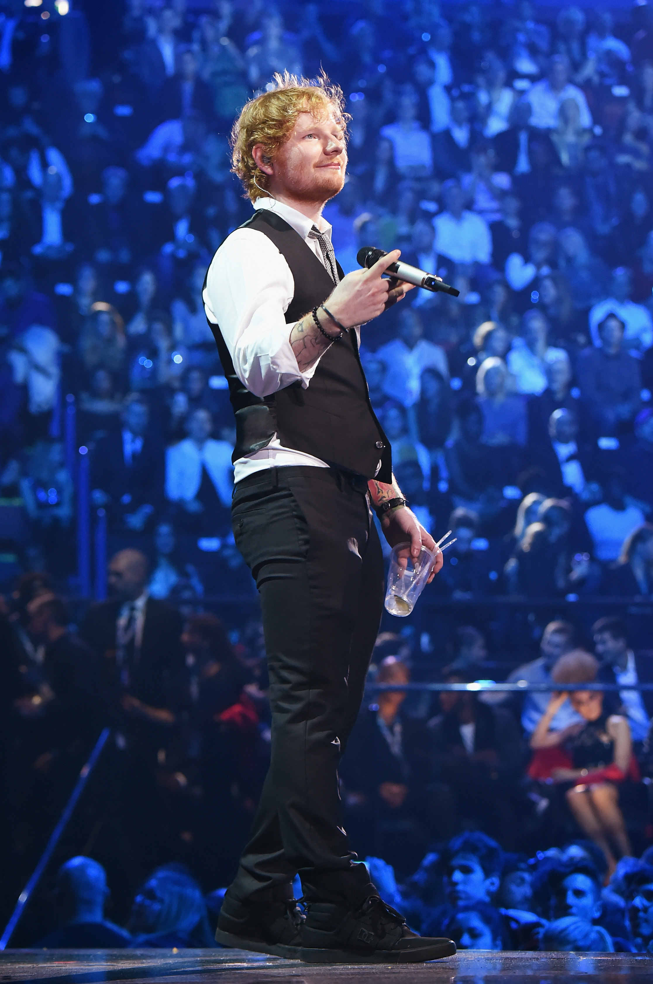 Ed Sheeran on Oct. 25, 2015 in Milan.