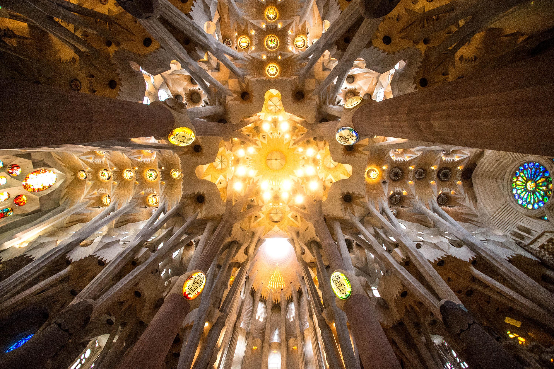 A general view of the Basilica of 'La Sagrada Familia' in Barcelona on Oct. 26, 2015.