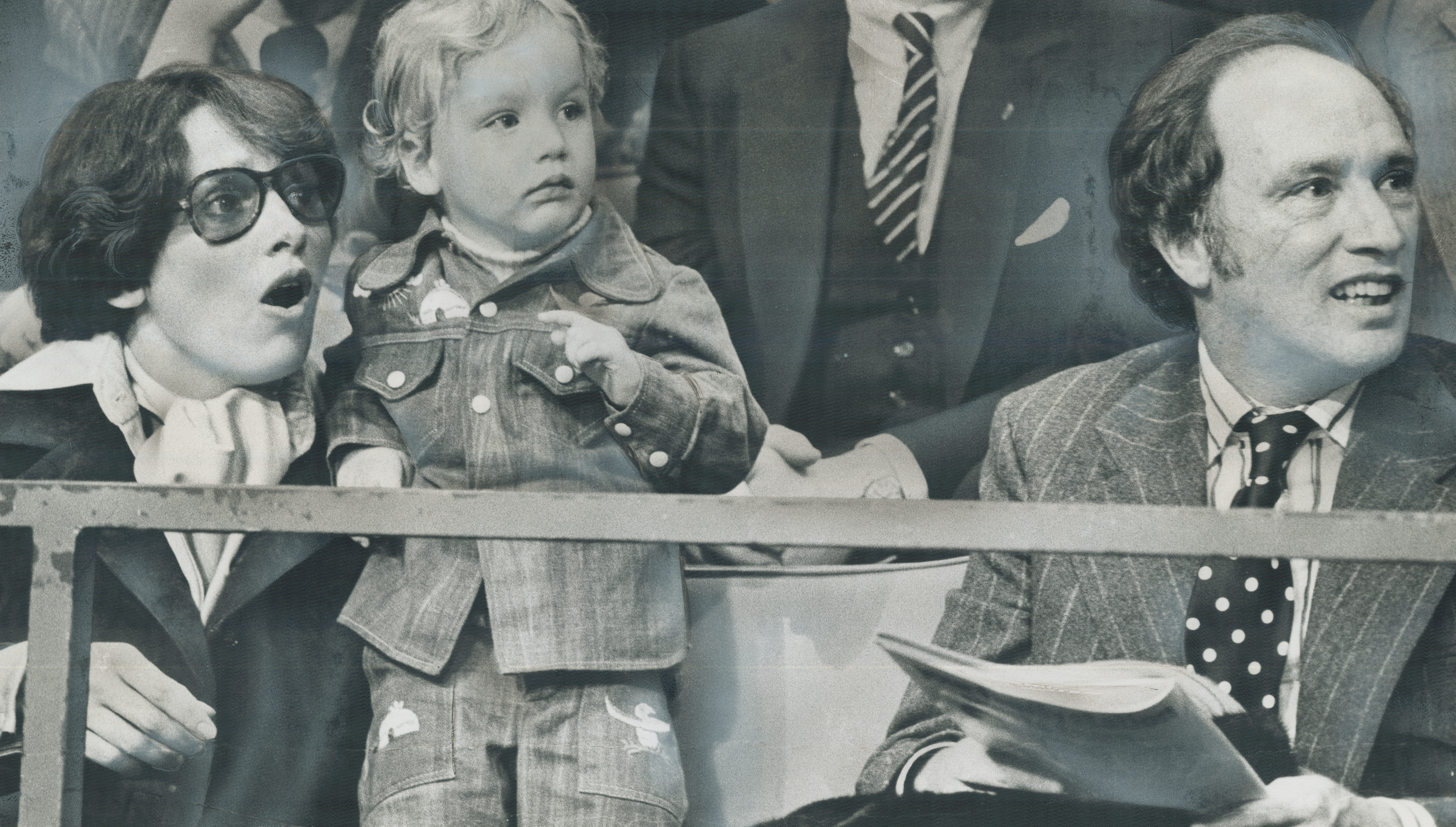 Margaret, Justin and Pierre Trudeau in Toronto in 1974