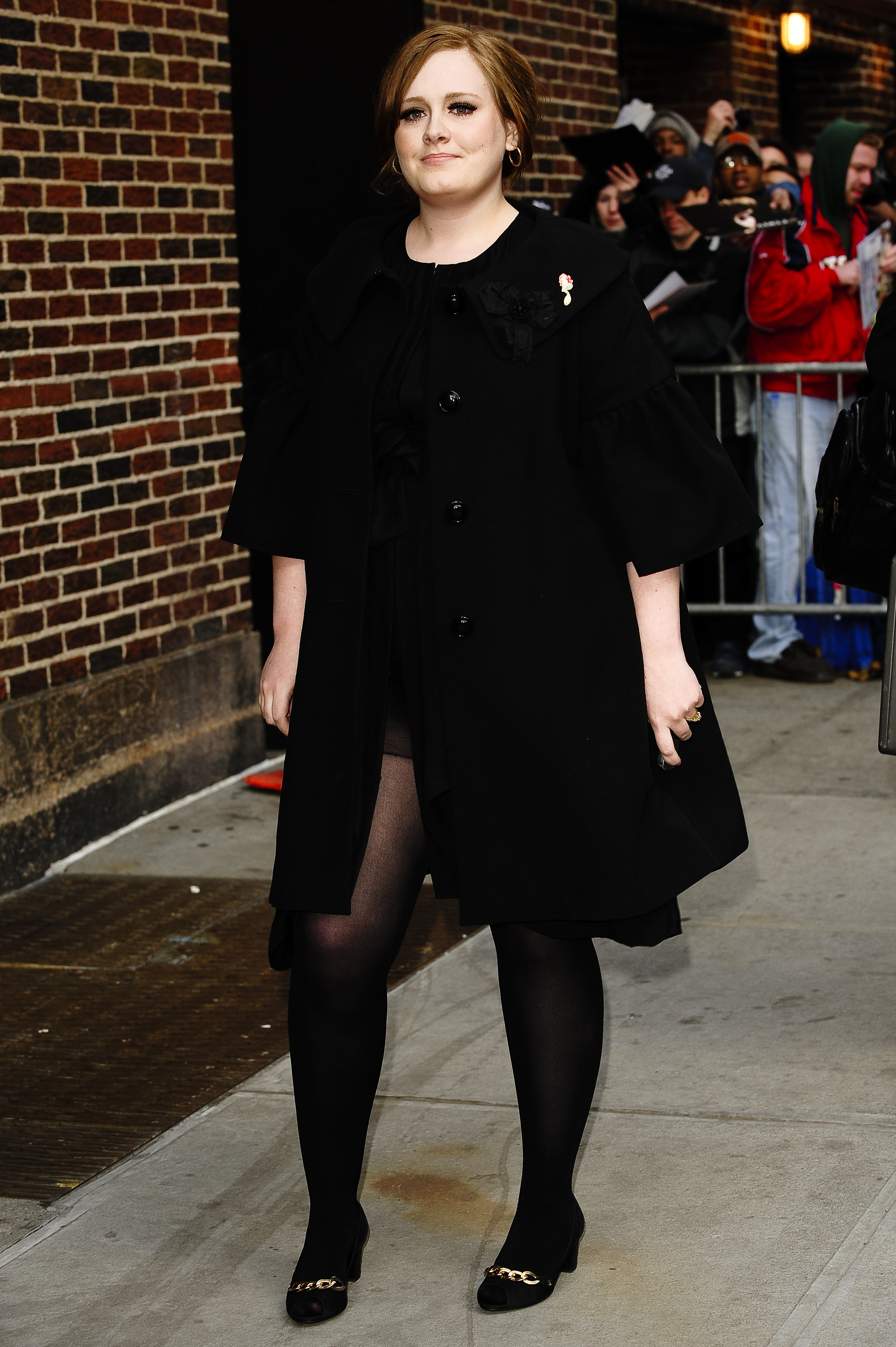 "Adele visits the ""Late Show with David Letterman"" at the Ed Sullivan Theater in New York City on March 30, 2009."