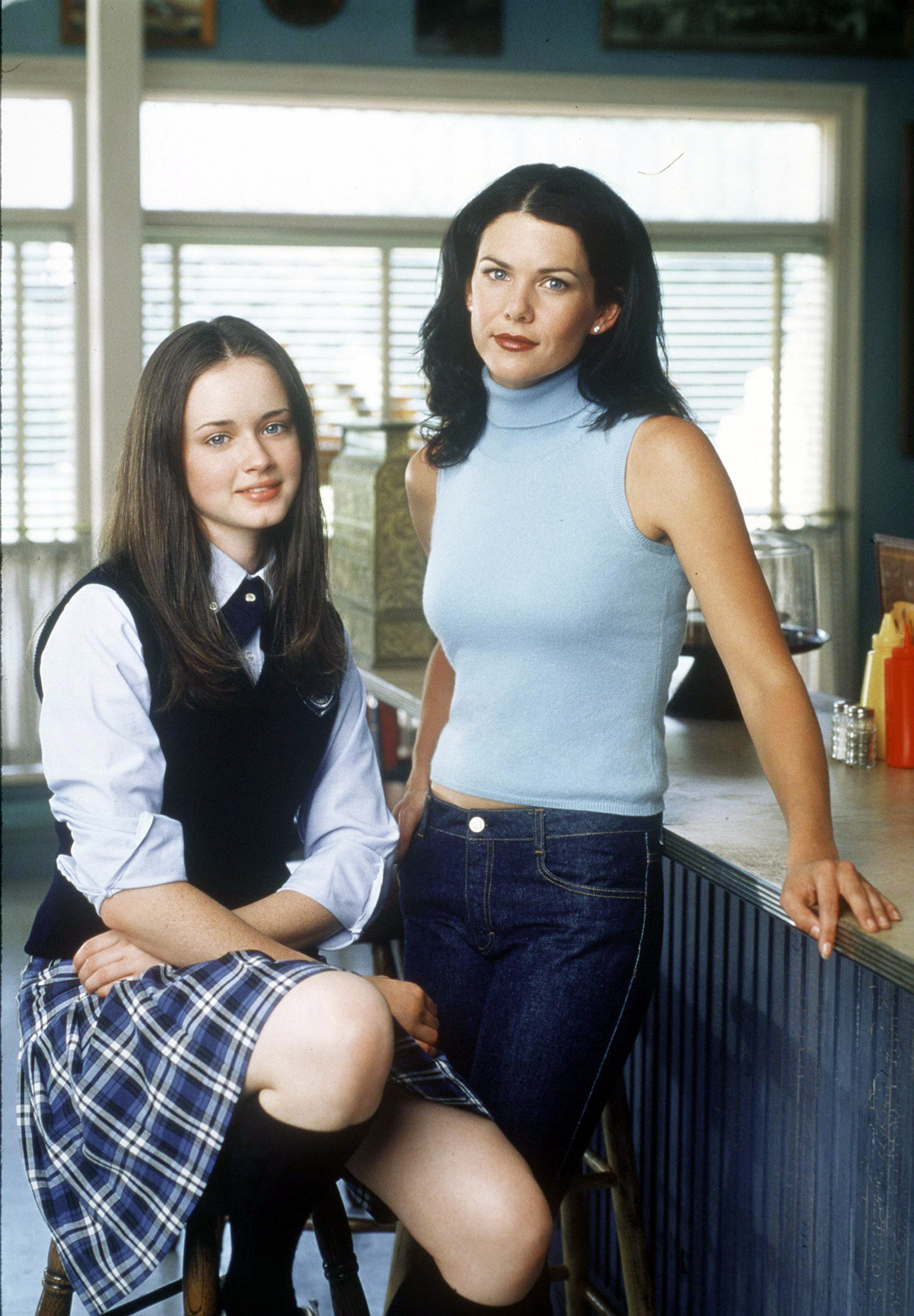 Alexis Bledel and Lauren Graham star in Warner Bros. TV series  The Gilmore Girls.