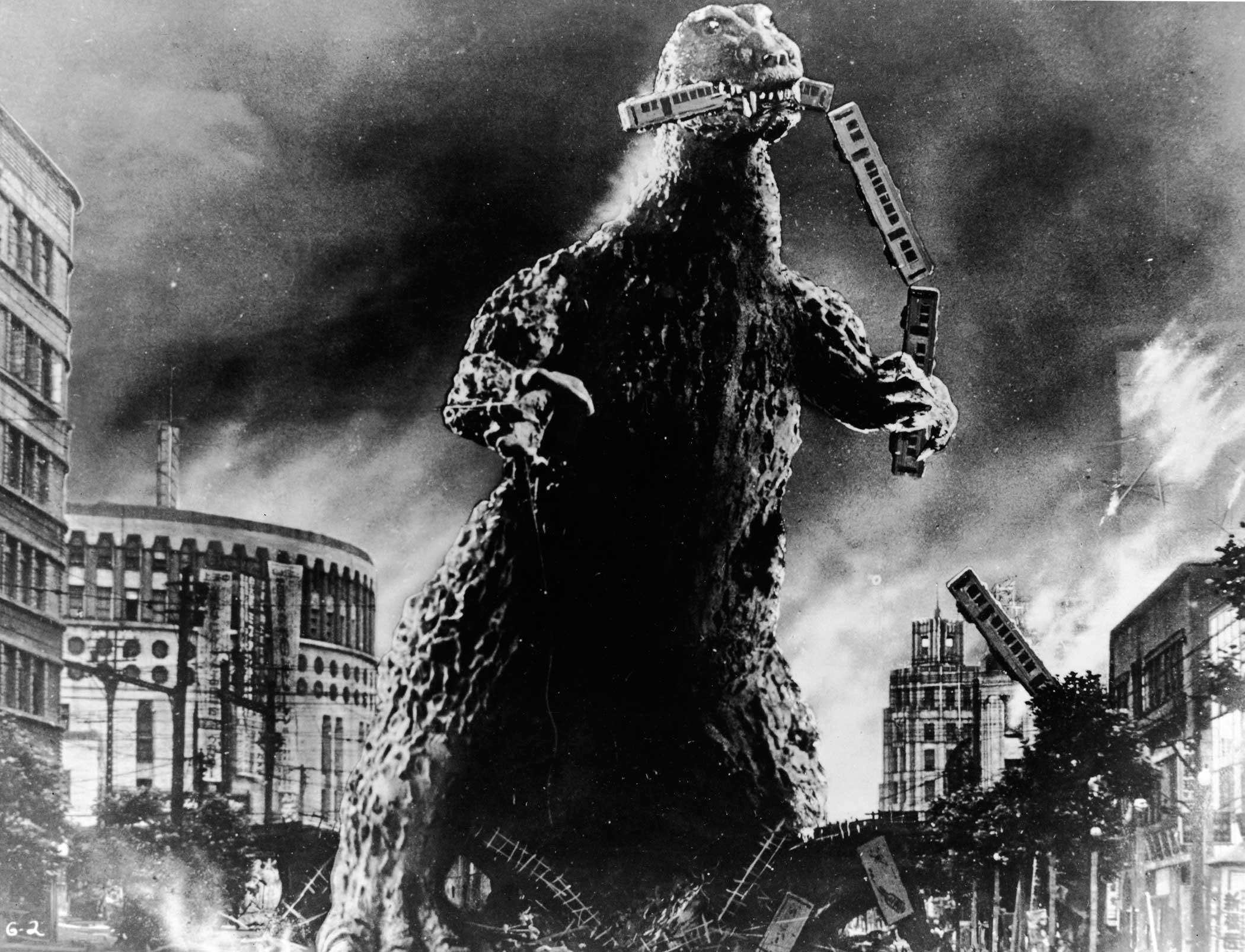 Godzilla from Godzilla, 1954.