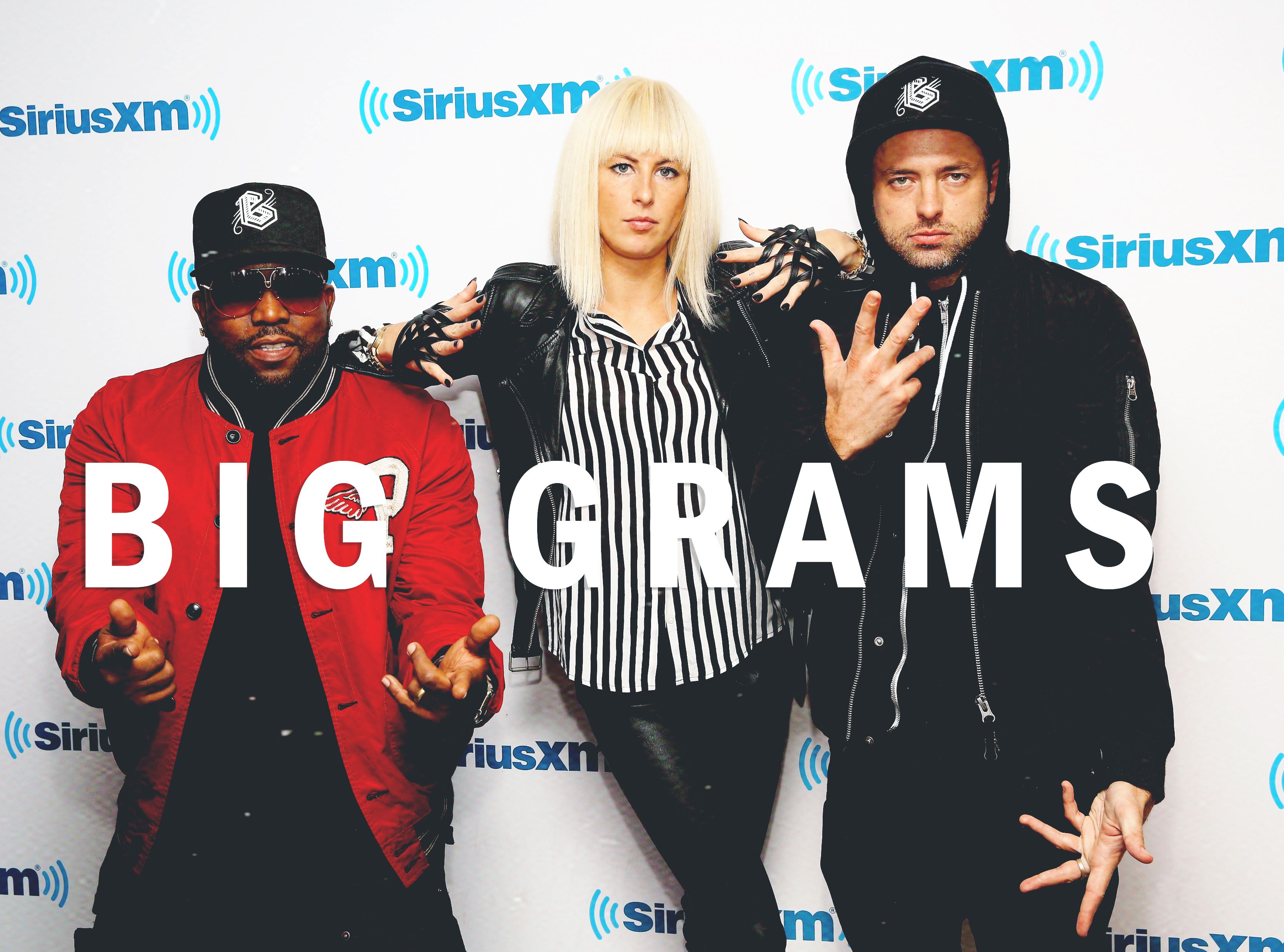 NEW YORK, NY - SEPTEMBER 25:  Big Boi, Sarah Barthel and Josh Carter of Big Grams visit at SiriusXM Studios on September 25, 2015 in New York City.  (Photo by Robin Marchant/Getty Images)