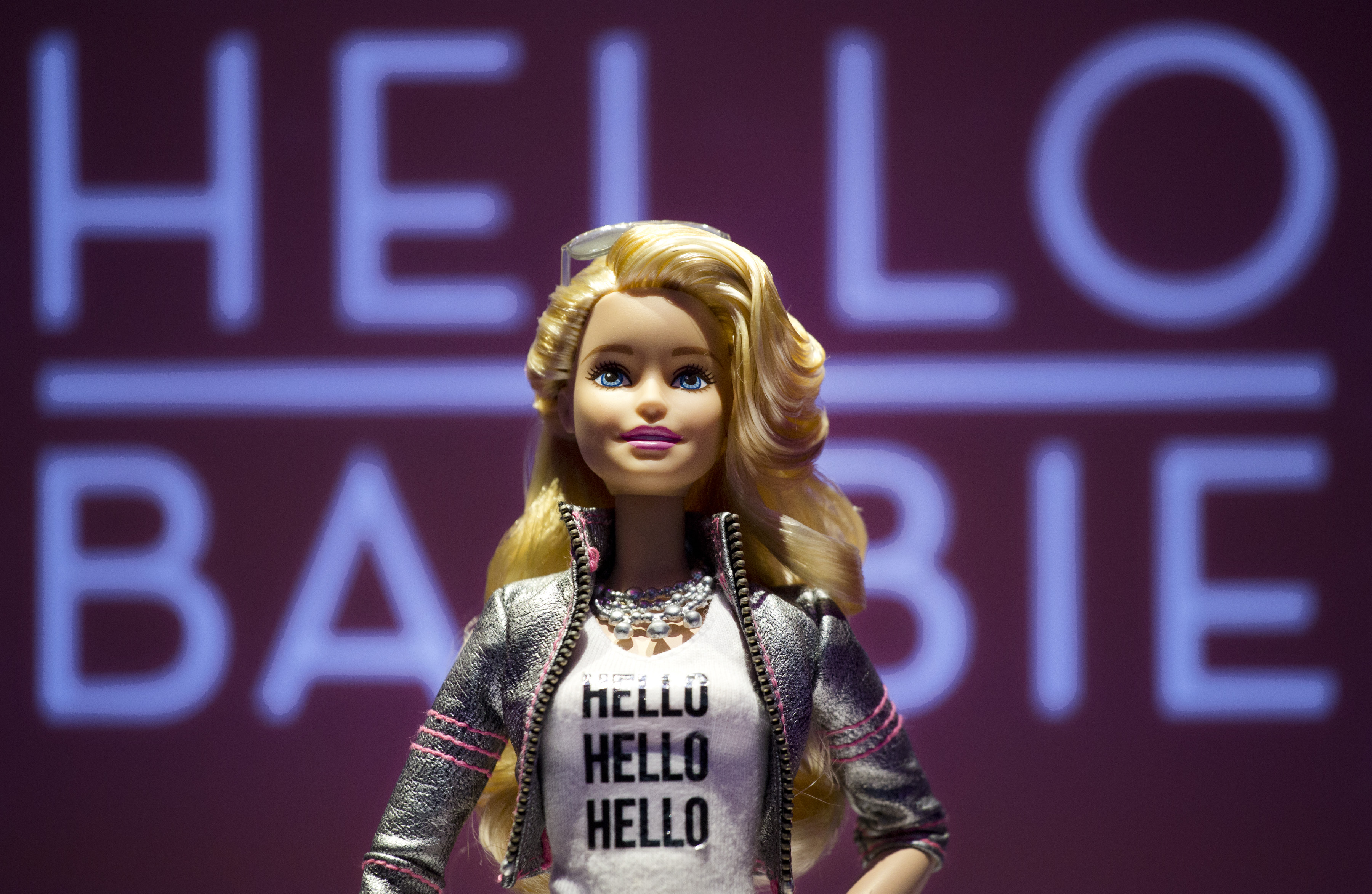 Hello Barbie is displayed at the Mattel showroom in New York City on Feb. 14, 2015.