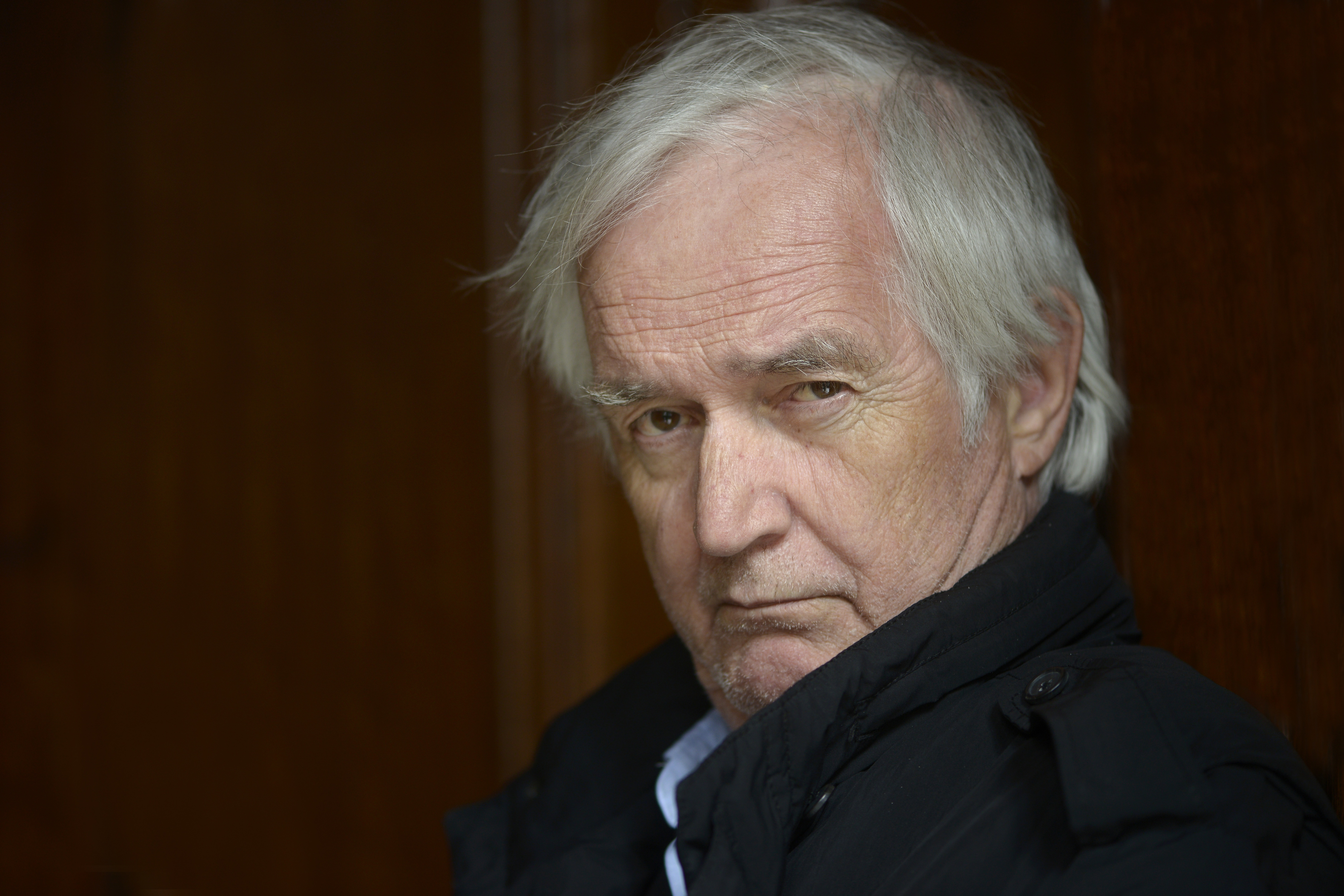 Swedish writer Henning Mankell poses during a portrait session held on March 30, 2013 in Lyon, France.