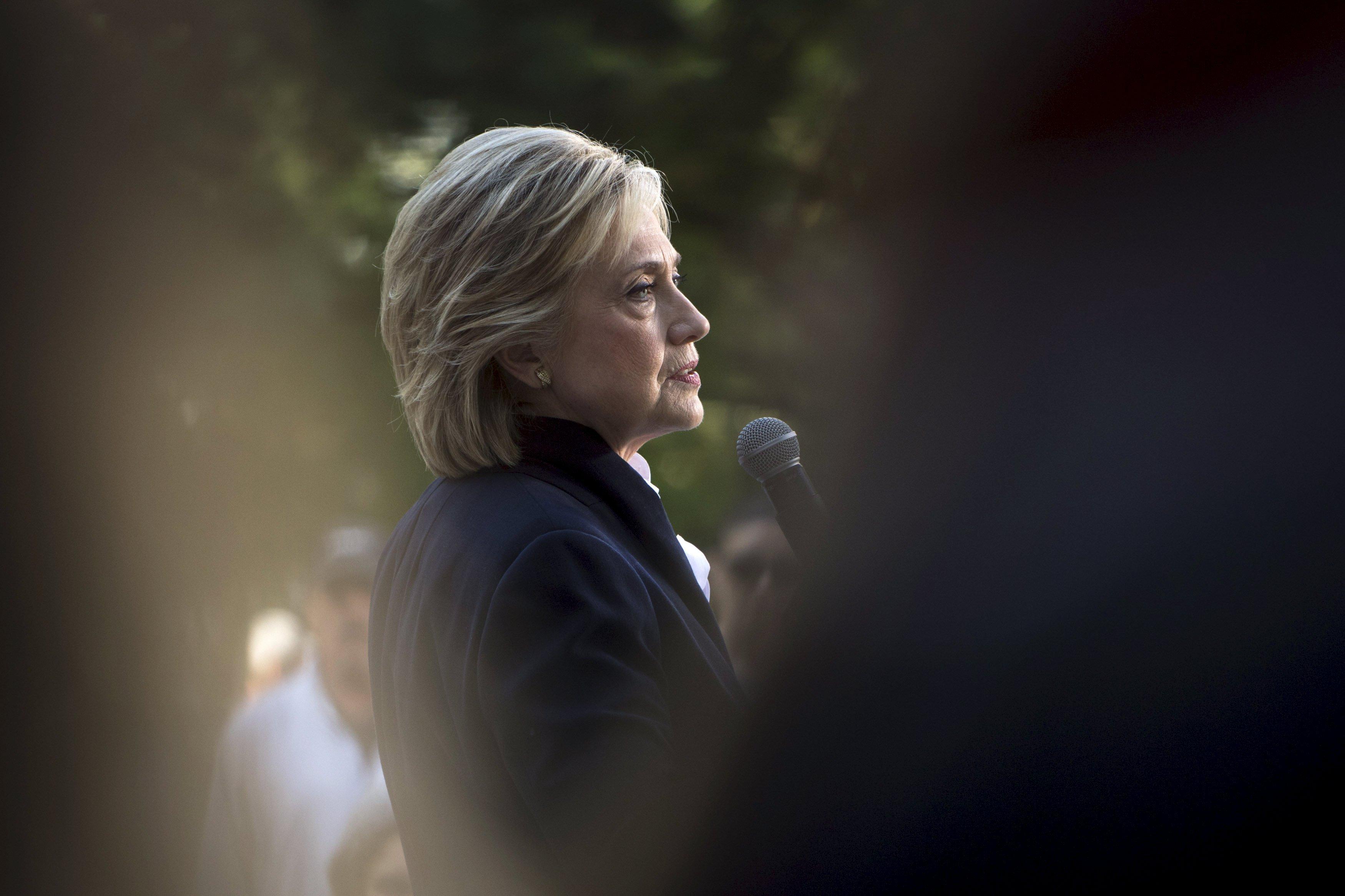 Hillary Clinton on Oct. 7, 2015 in Mt Vernon, Iowa.