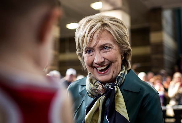 Former Secretary of State Hillary Clinton speaks to voters at a town hall meeting in Davenport, Iowa on Oct. 6, 2015.