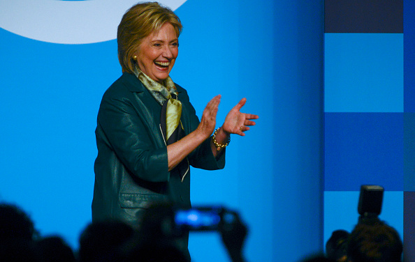 Hillary Clinton speaks during the Democratic National Committee 22nd Annual Women's Leadership Forum National Issues Conference at Grand Hyatt Washington DC on October 23, 2015 in Washington, DC.