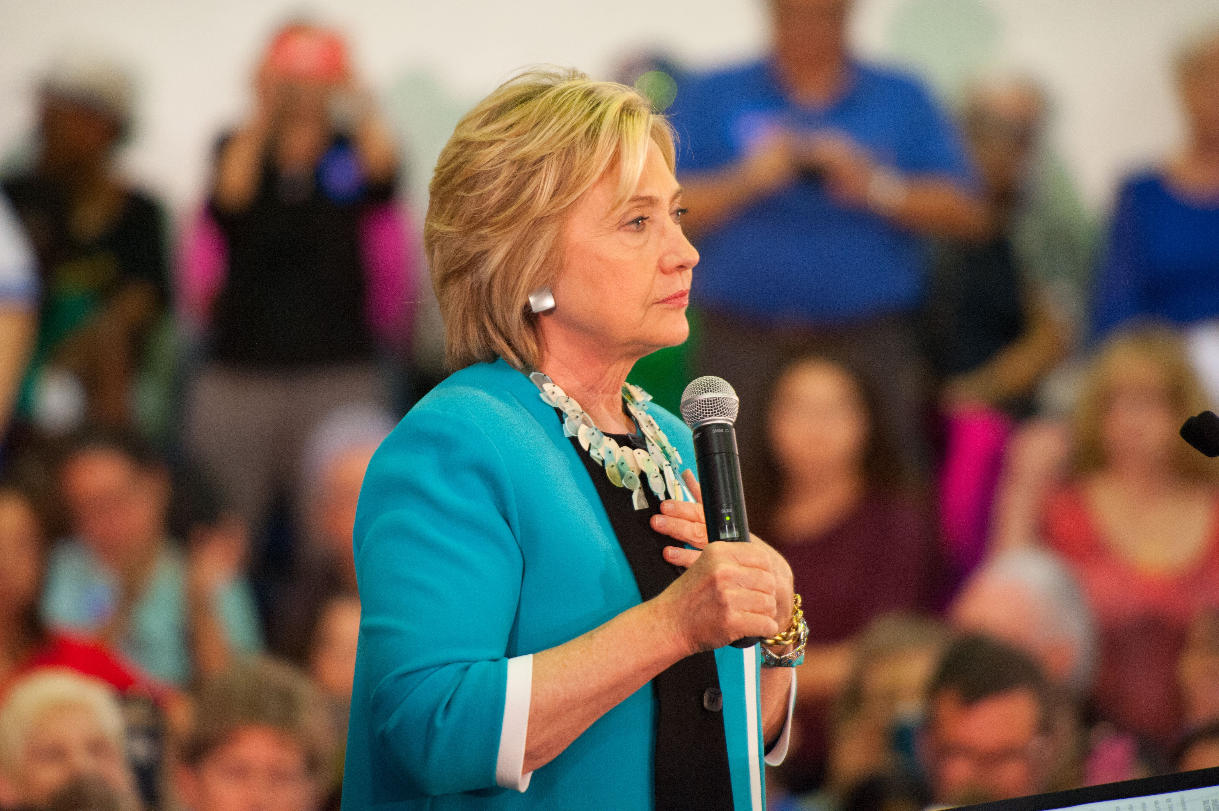 Hillary Clinton speaks at Broward College for Organzing Grassroots event in Davie, Florida on Oct. 2, 2015.