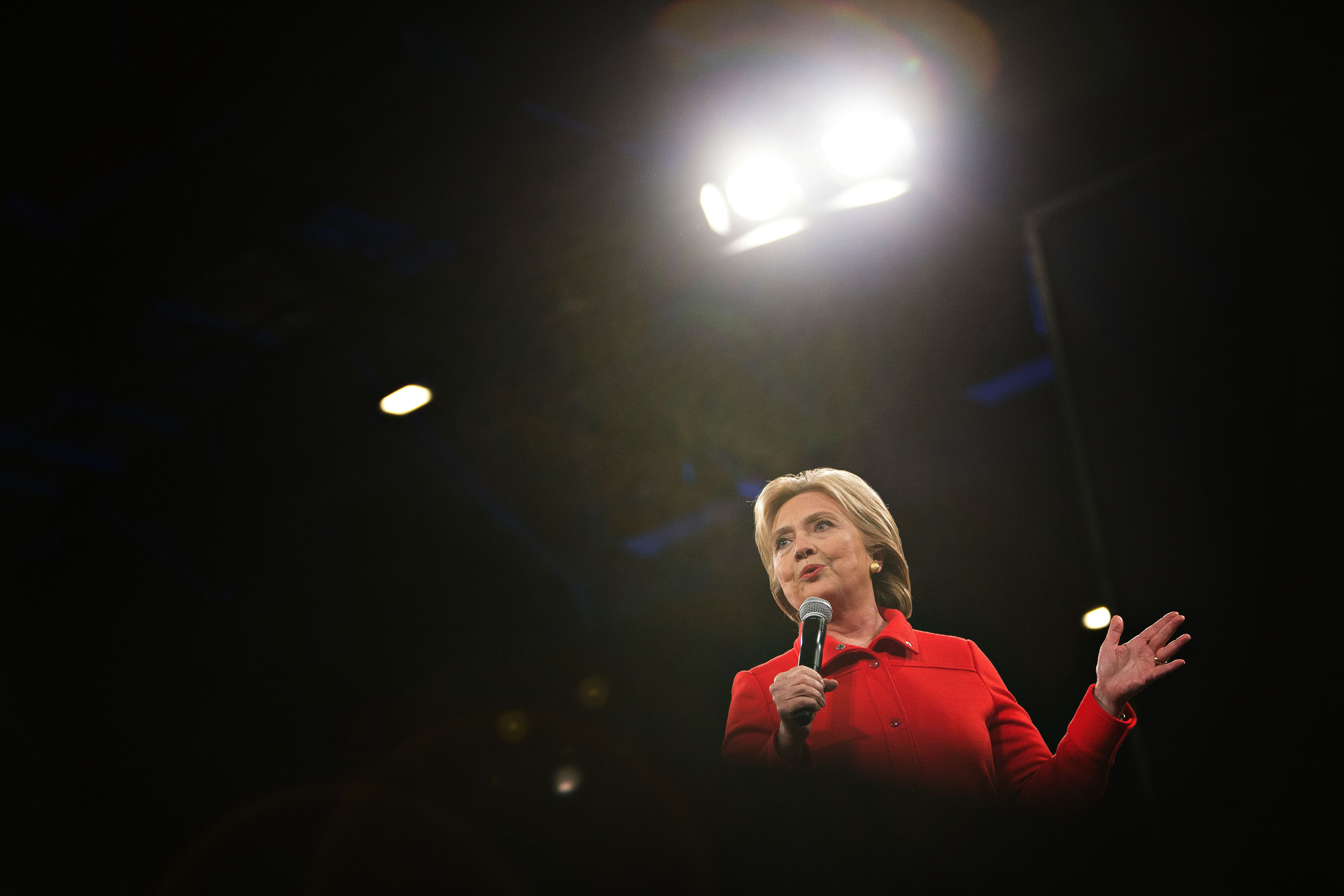 Hillary Clinton speaks at the Jefferson-Jackson Dinner in Des Moines, IO on Oct. 24, 2015.