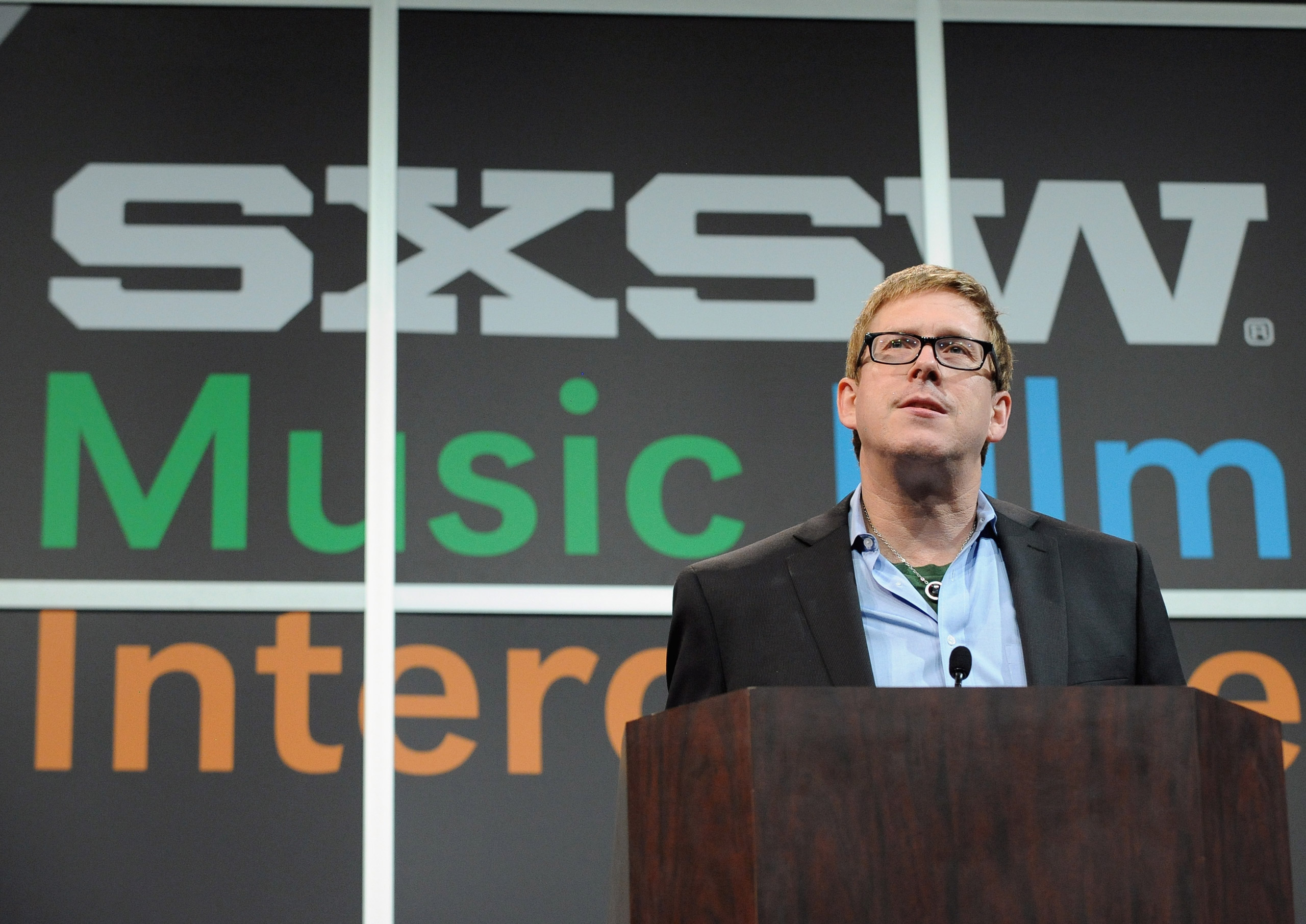 Hugh Forrest, SXSW Interactive's Director speaks onstage at Bruce Sterling Closing Remarks during the 2014 SXSW Music, Film + Interactive Festival in Austin on March 11, 2014.