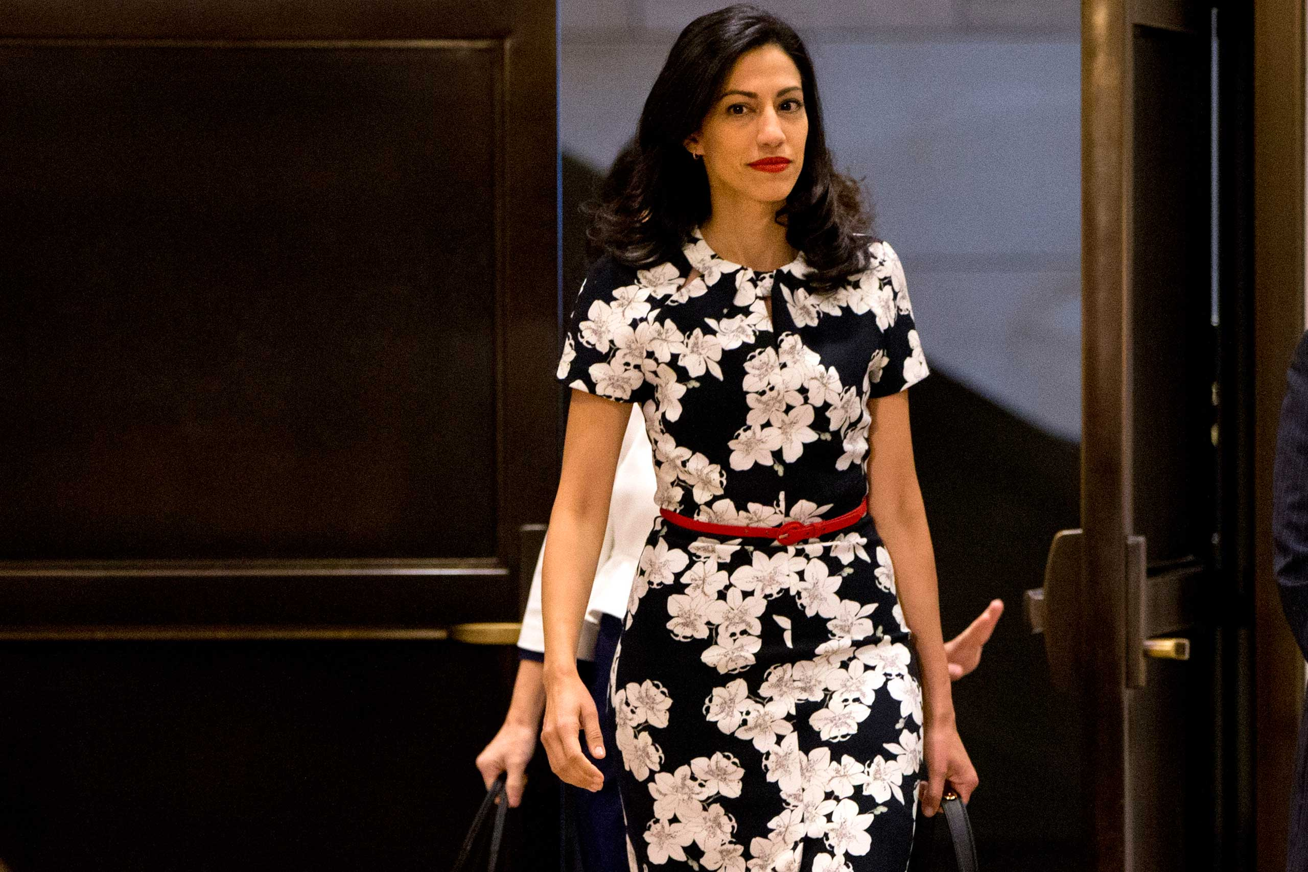 Huma Abedin,  a close aide to Hillary Rodham Clinton arrives on Capitol Hill in Washington to testify before a closed-door hearing of the House Benghazi Committee investigating the deadly attacks in Benghazi, Libya, Oct. 16, 2015.