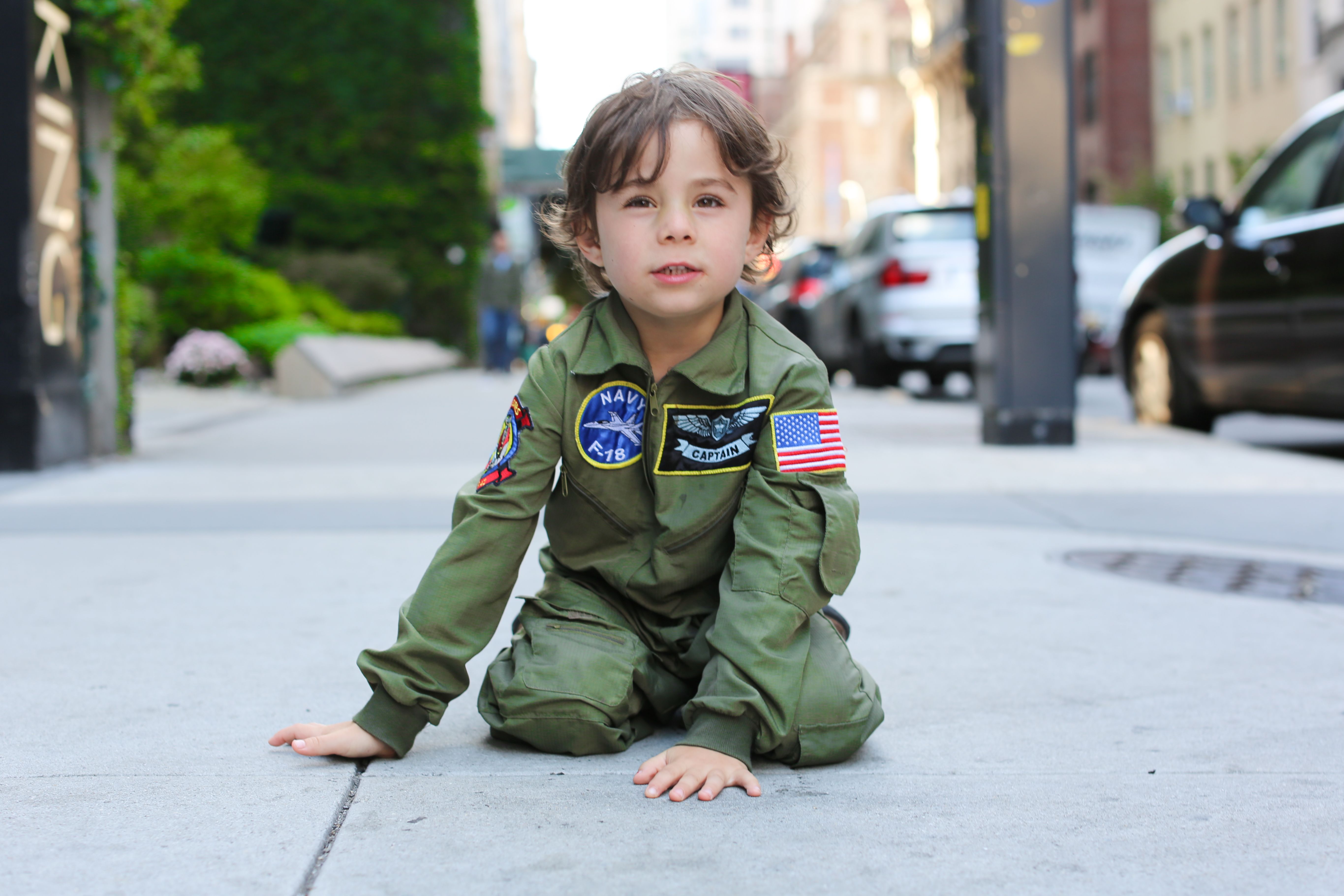 """""""Why are you wearing a pilot's outfit?                                                                I wear it every day.                                                                Do you want to be a pilot when you grow up?                                                                No, I want to be a teacher.                                                                Why aren't you wearing a teacher's outfit?                                                                I don't have one."""
