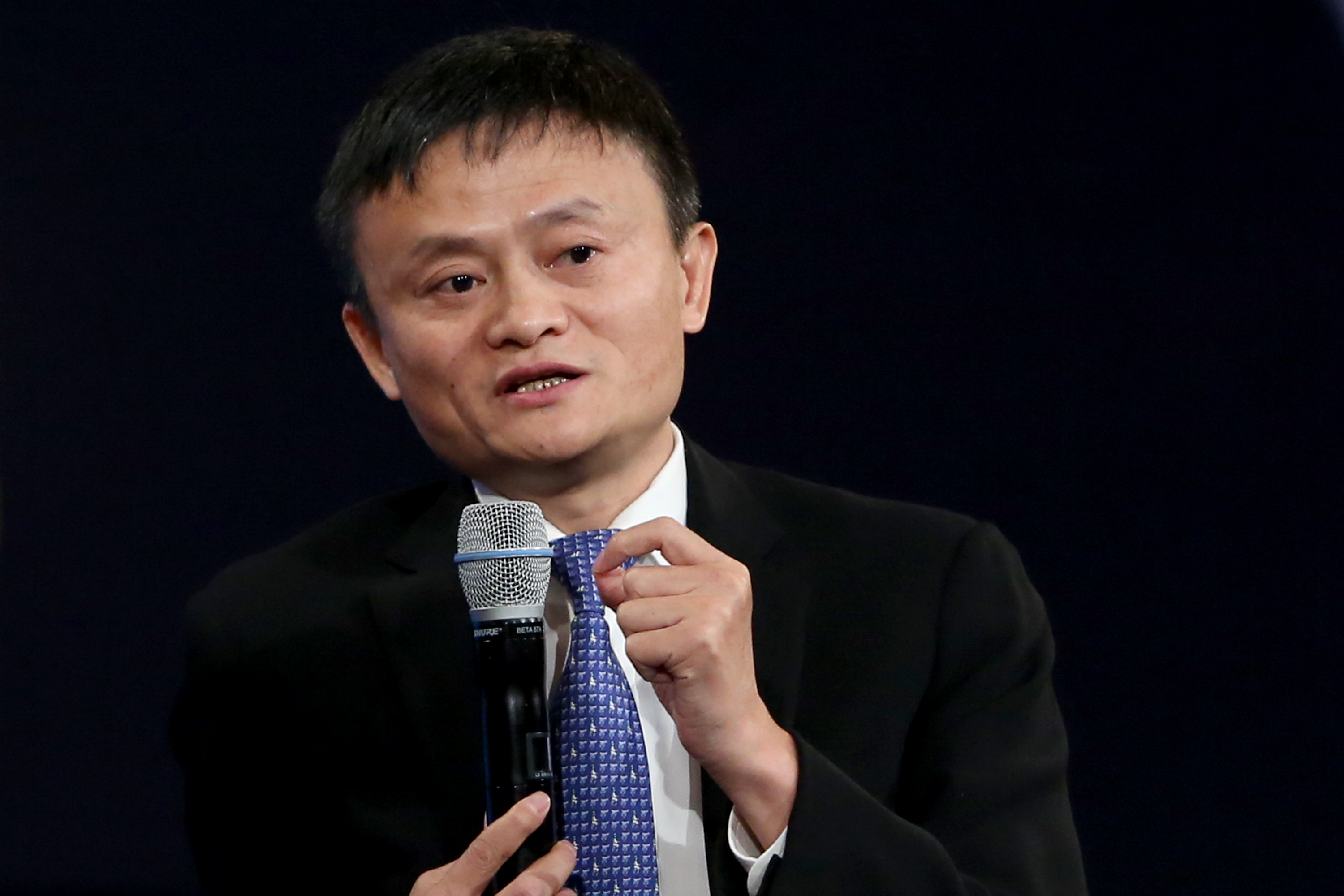 Jack Ma at the Clinton Global Initiative Annual Meeting in New York City on Sept. 29, 2015.