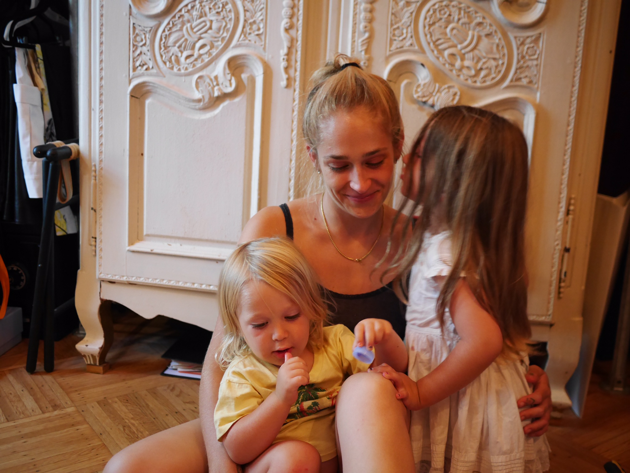 Kirke, 30, at home in Brooklyn with her children, Memphis, 2, and Rafa, 5