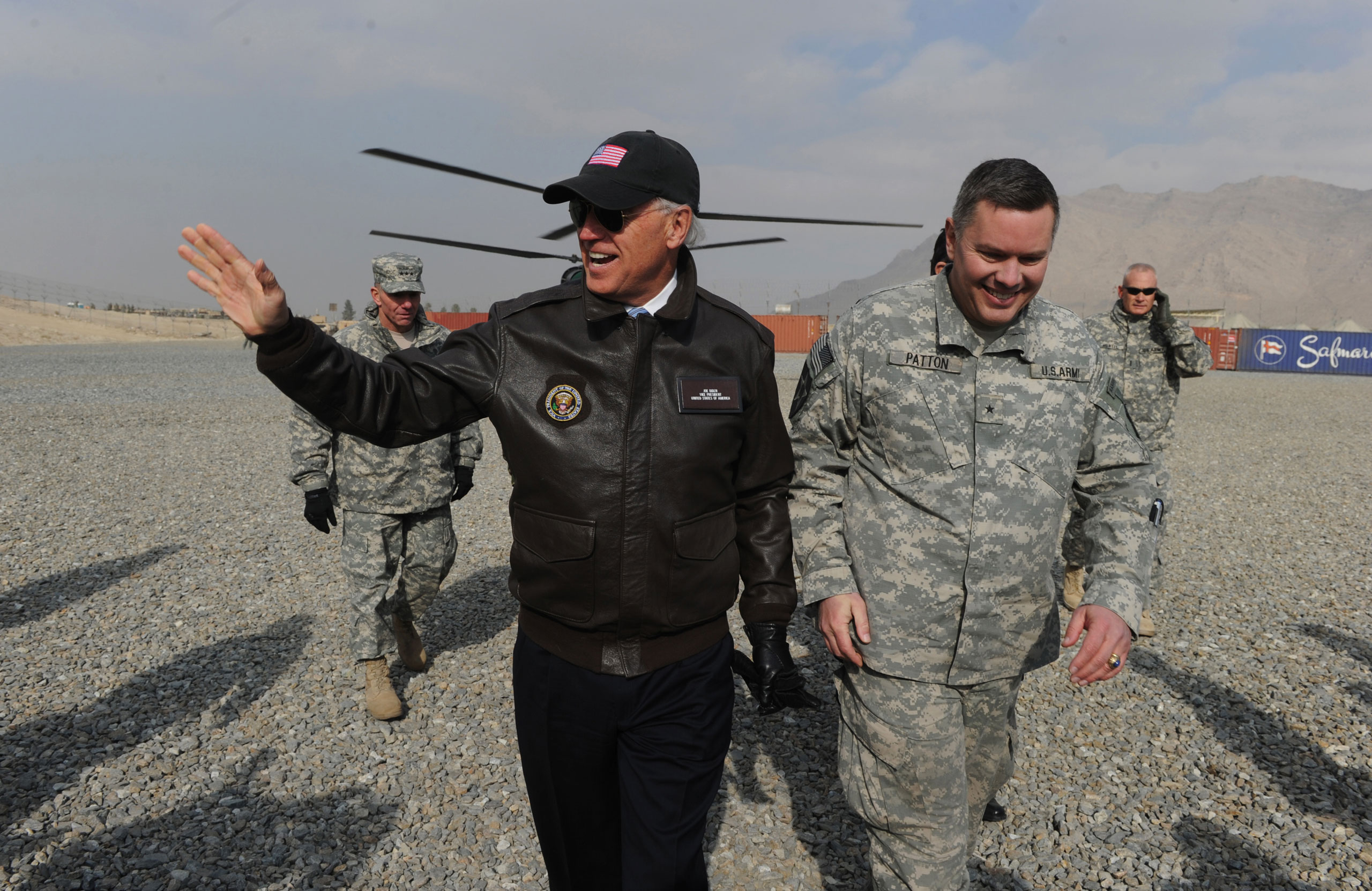 U.S. Vice President Joe Biden visits an Afghan National Army training center in Kabul on Jan. 11, 2011.