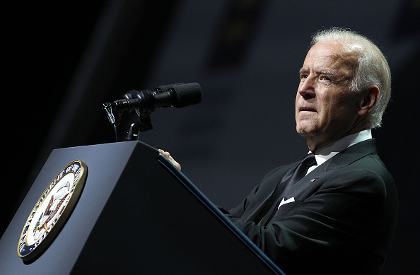 U.S. Vice President Joe Biden speaks at the 19th Annual HRC National Dinner at the Walter E. Washington Convention Center on October 3, 2015 in Washington, DC.