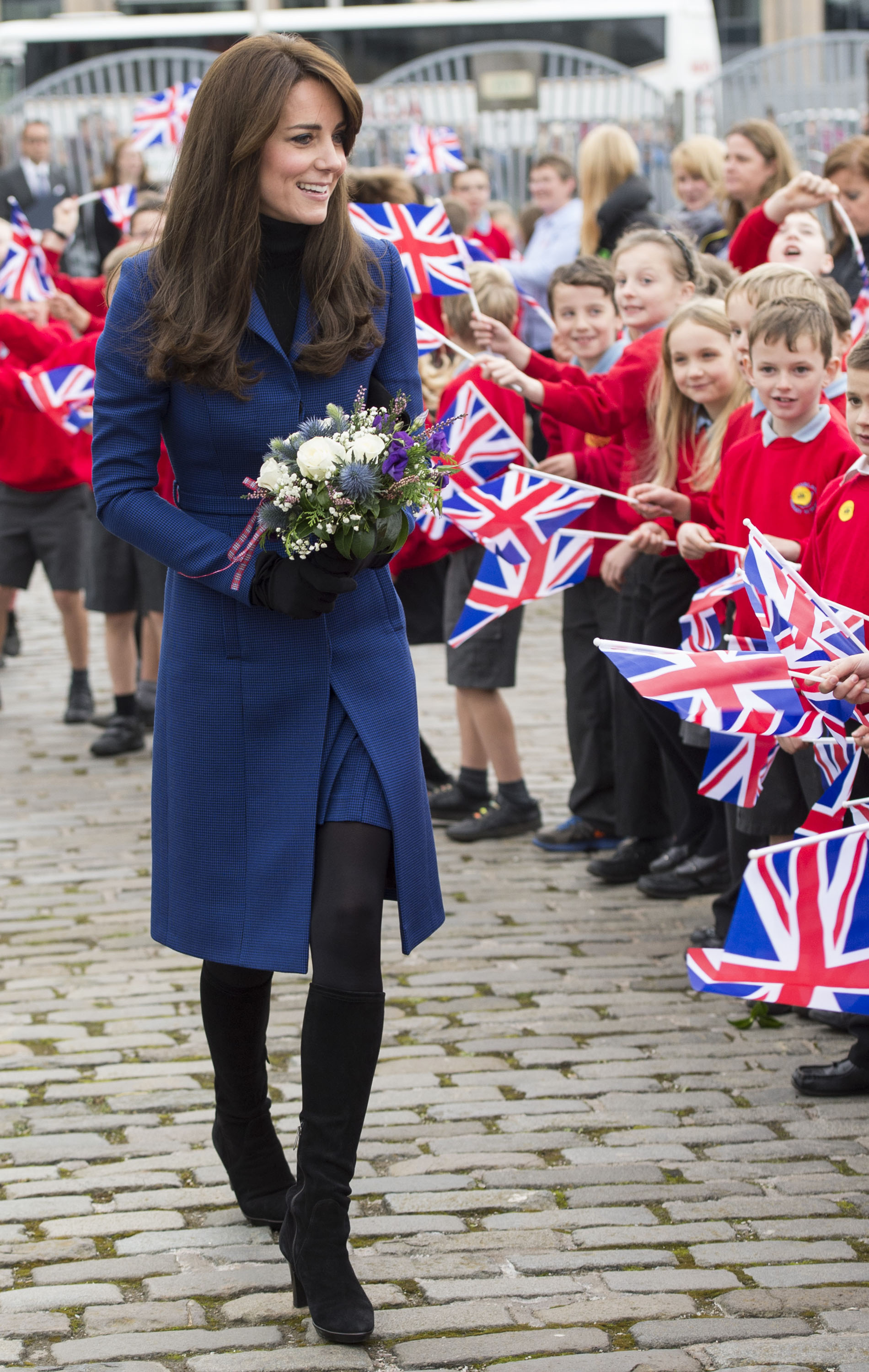 Kate Middleton visits the original Royal Research Ship Discovery in Dundee, Scotland on Oct. 23, 2015.