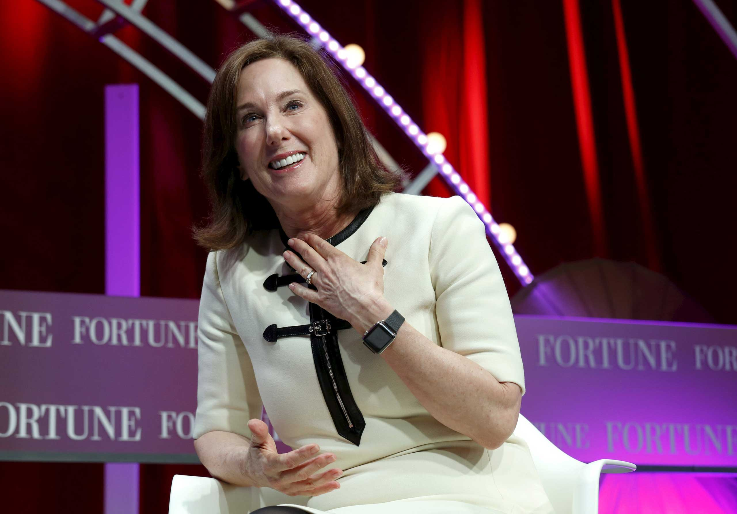 Lucasfilm's President Kathleen Kennedy speaks at Fortune's Most Powerful Women Summit in Washington Oct. 13, 2015.