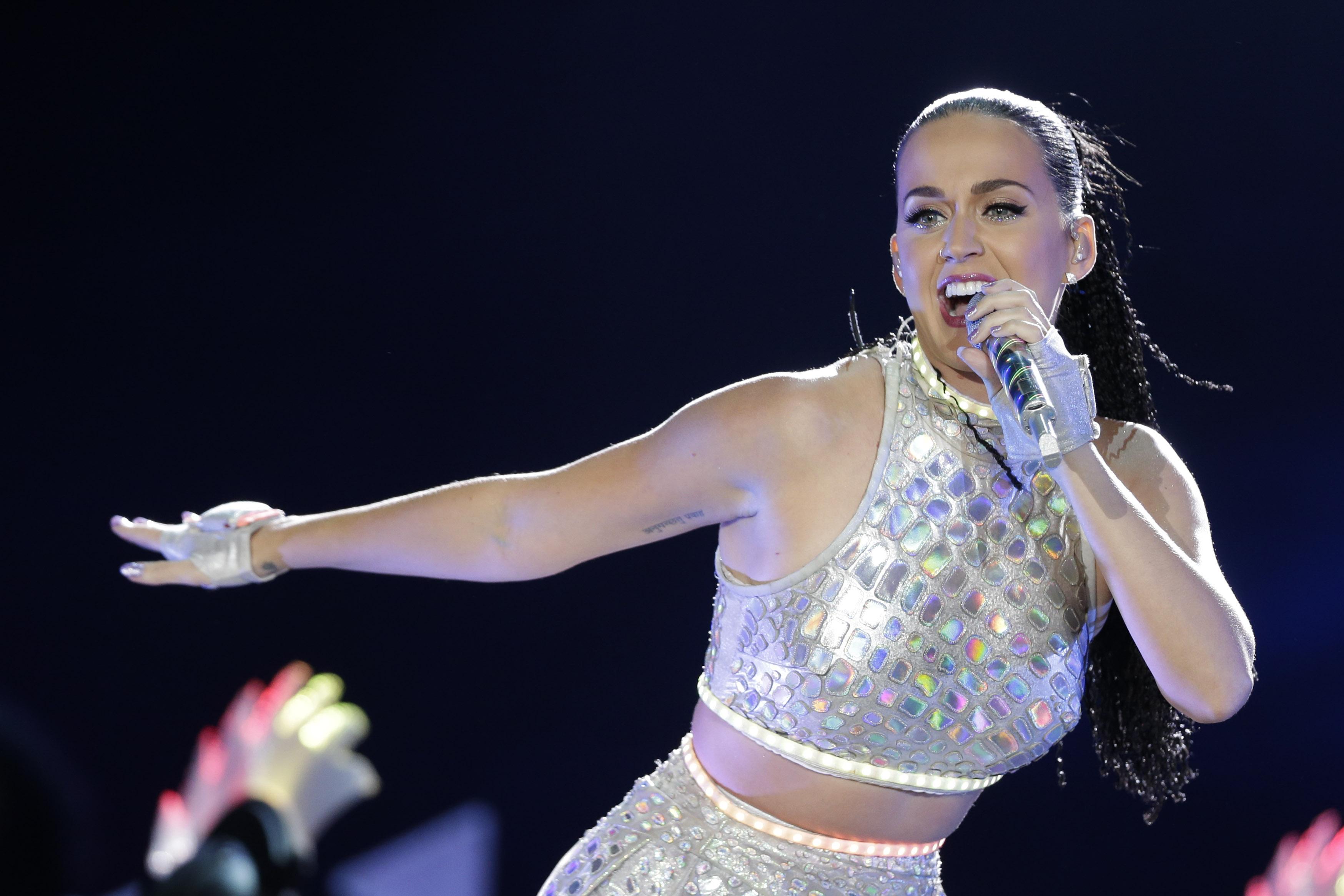 Katy Perry performs at the Rock in Rio music festival in Rio de Janeiro, Brazil, Monday, Sept. 28, 2015.