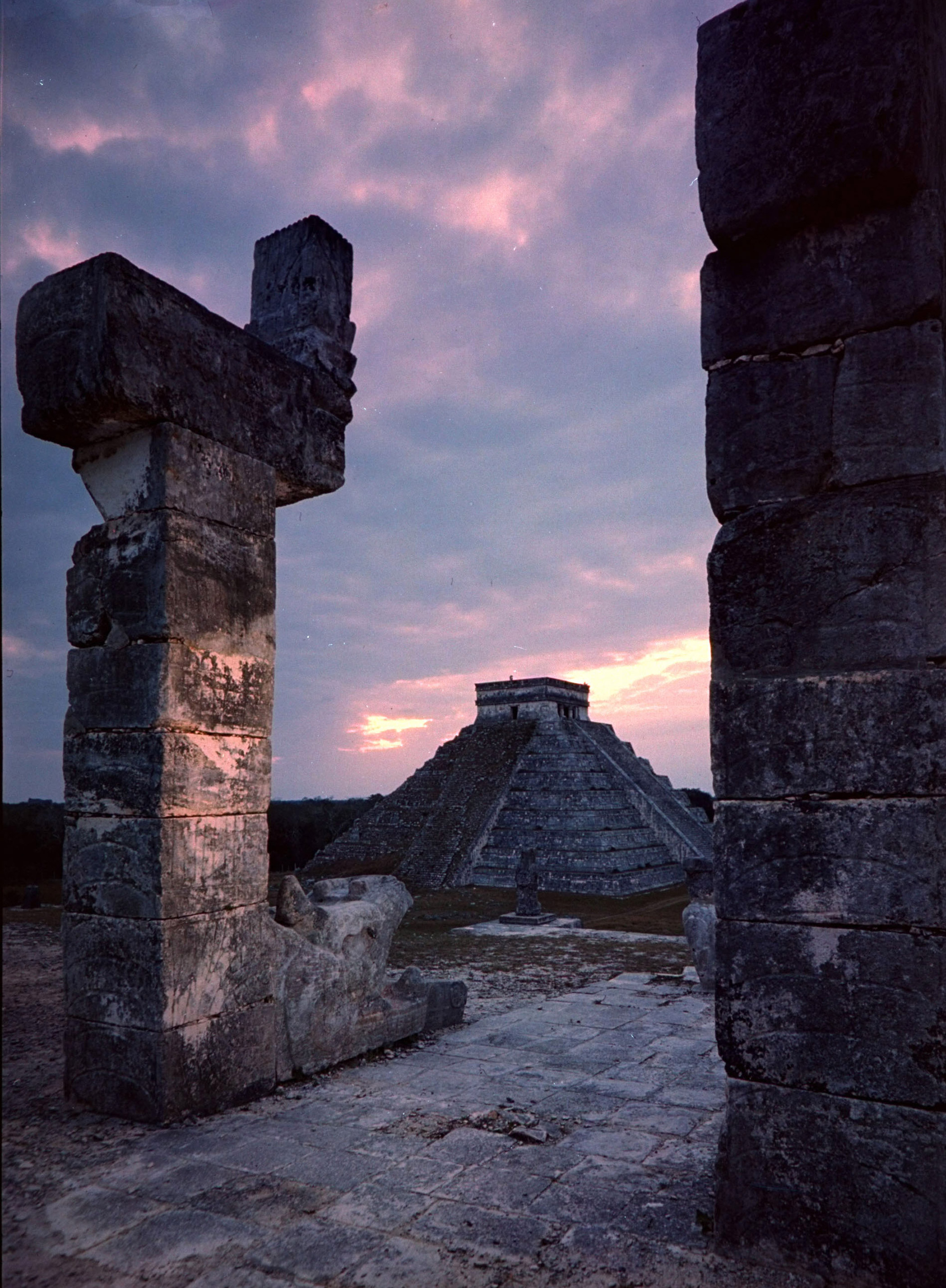Ancient Mayan city of Chichen Itza built by Mayans in 6th century dedicated to a godlike leader, Kukulcan.