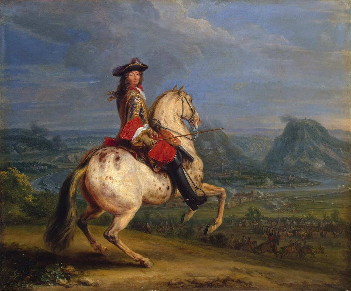 Louis XIV at the Taking of Besancon, 1674. Meulen, Adam Frans, van der (1632-1690). Found in the collection of the State Hermitage, St. Petersburg.