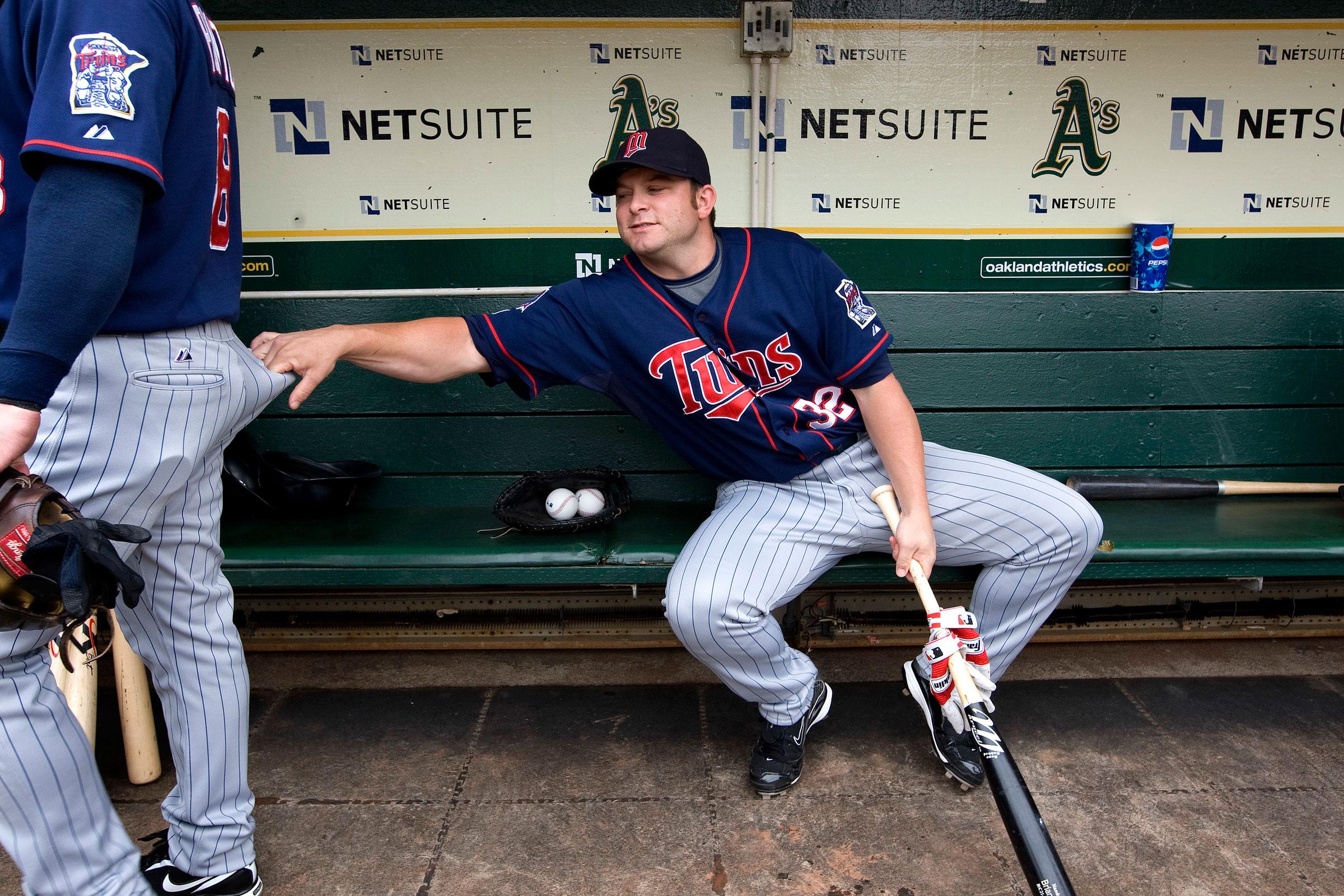 Brian Buscher and Nick Punto, 2009