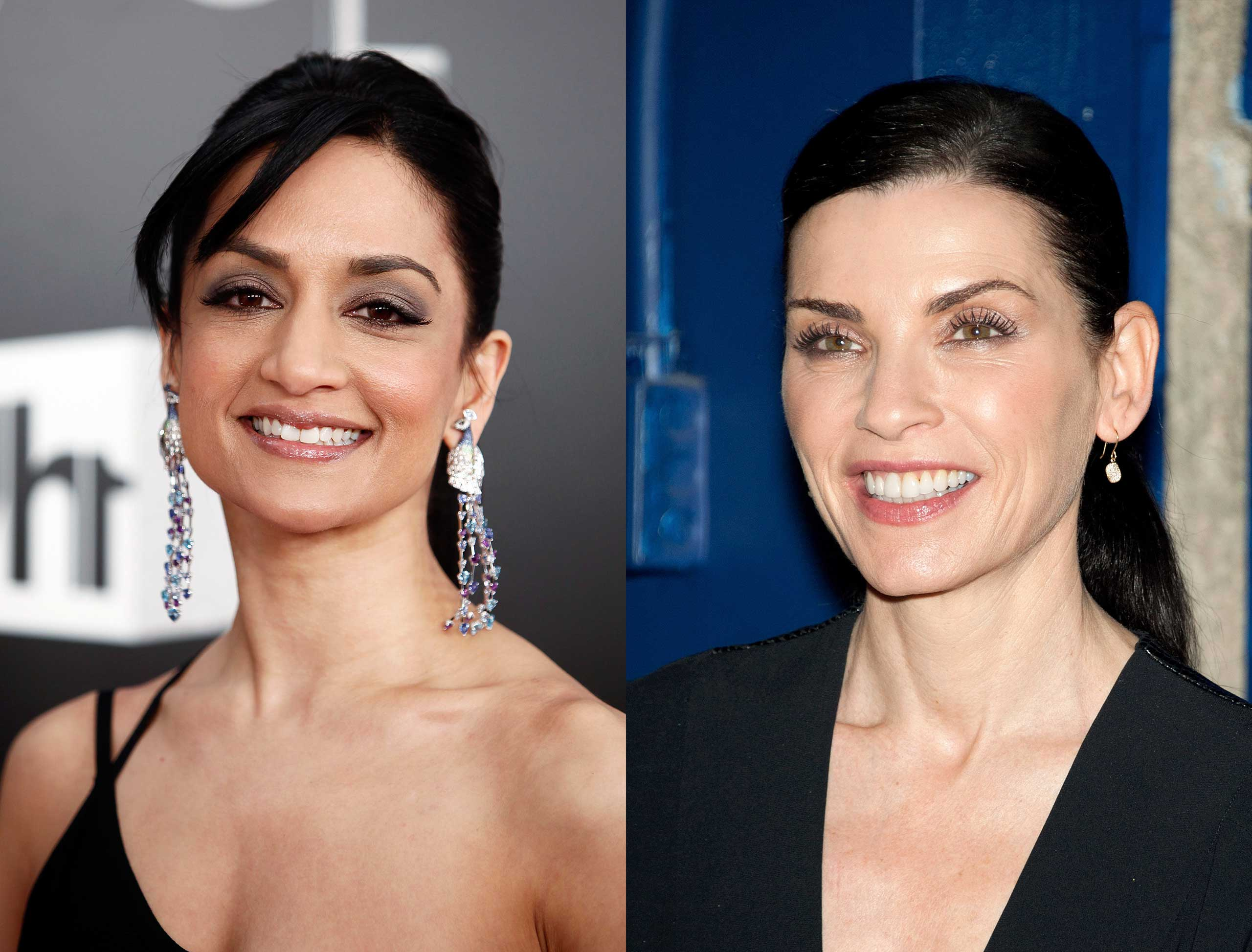 Actress Archie Panjabi and Julianna Margulies.