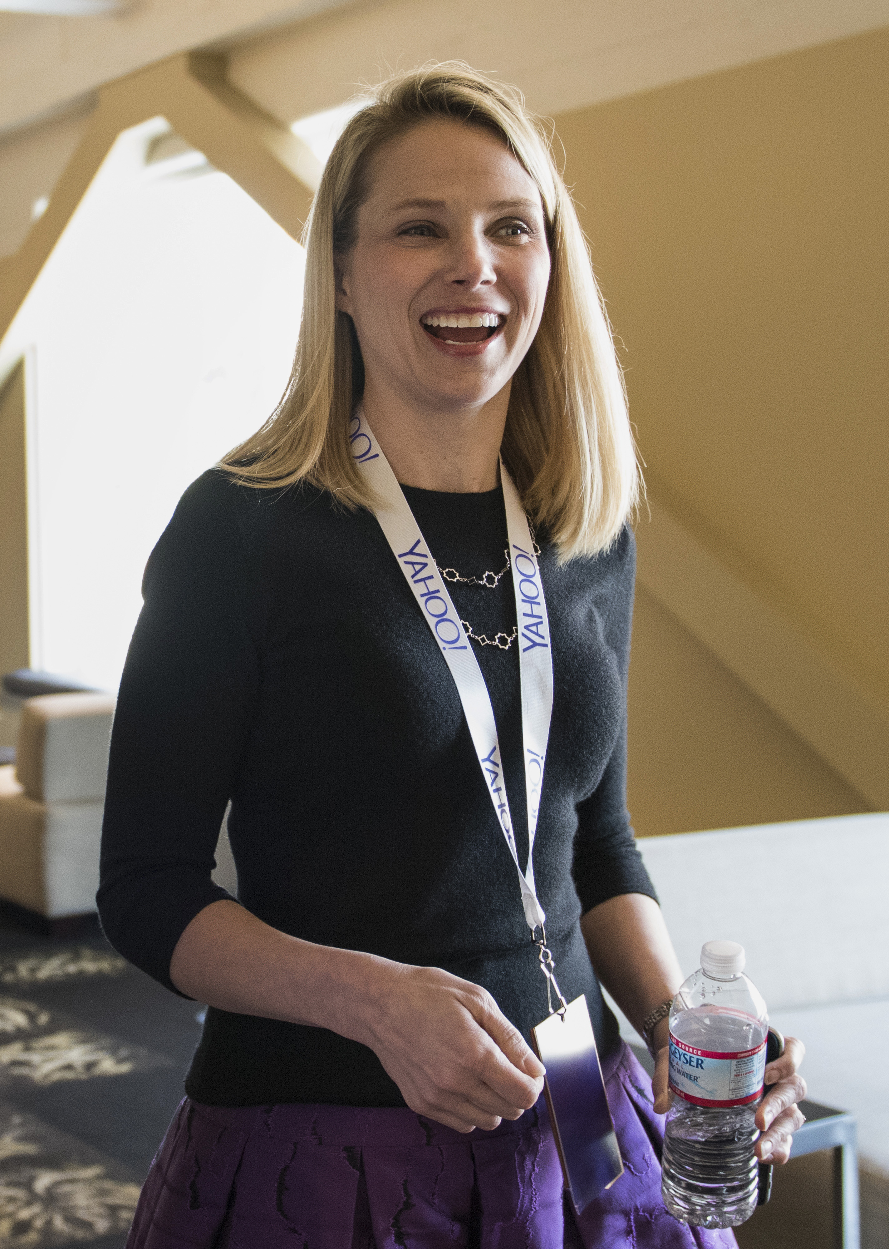 Marissa Mayer at the Yahoo! Inc. Mobile Developer Conference in San Francisco on Feb. 19, 2015.