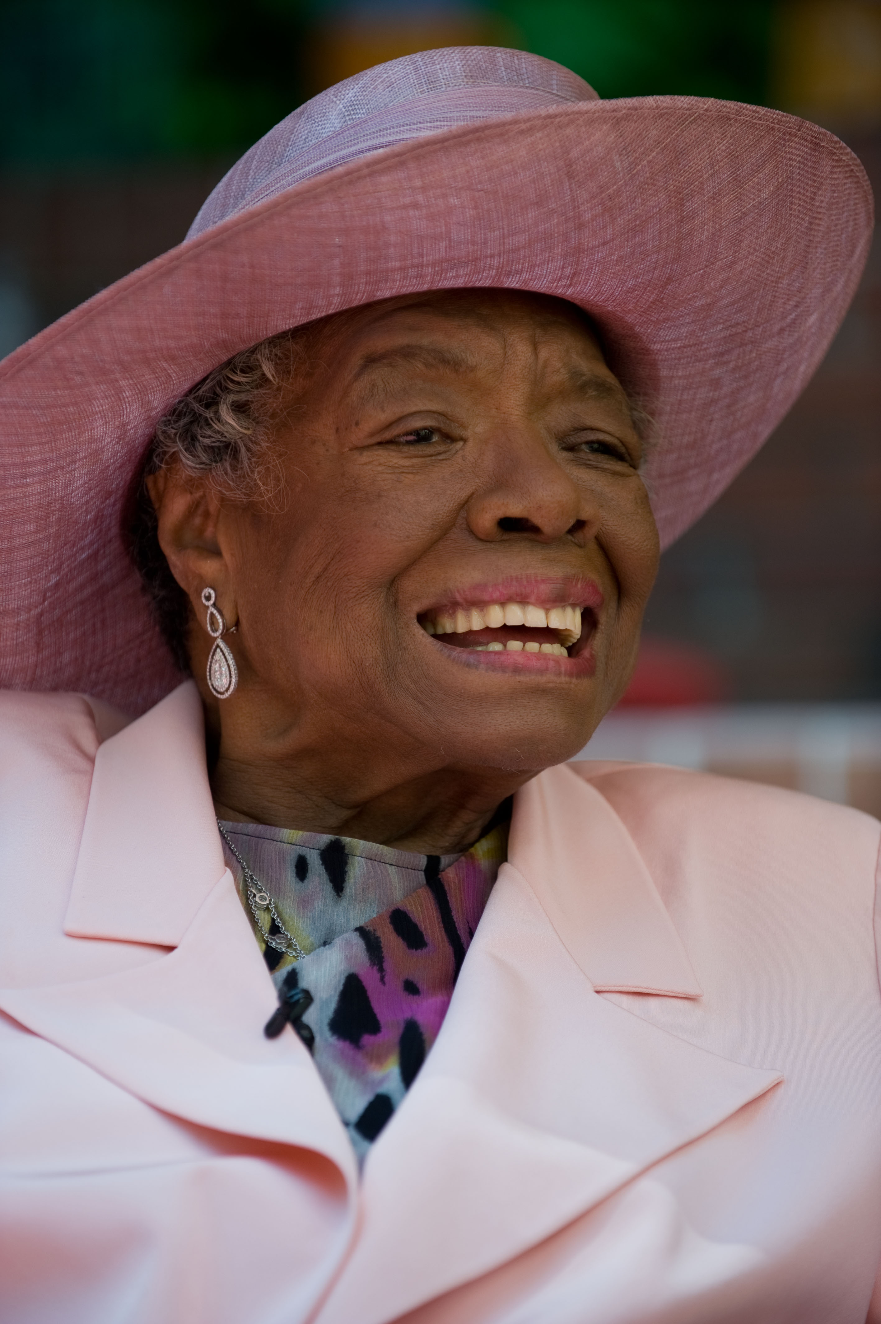 Maya Angelou at her 82nd birthday with friends and family in Winston-Salem, N.C. on May 20, 2010.