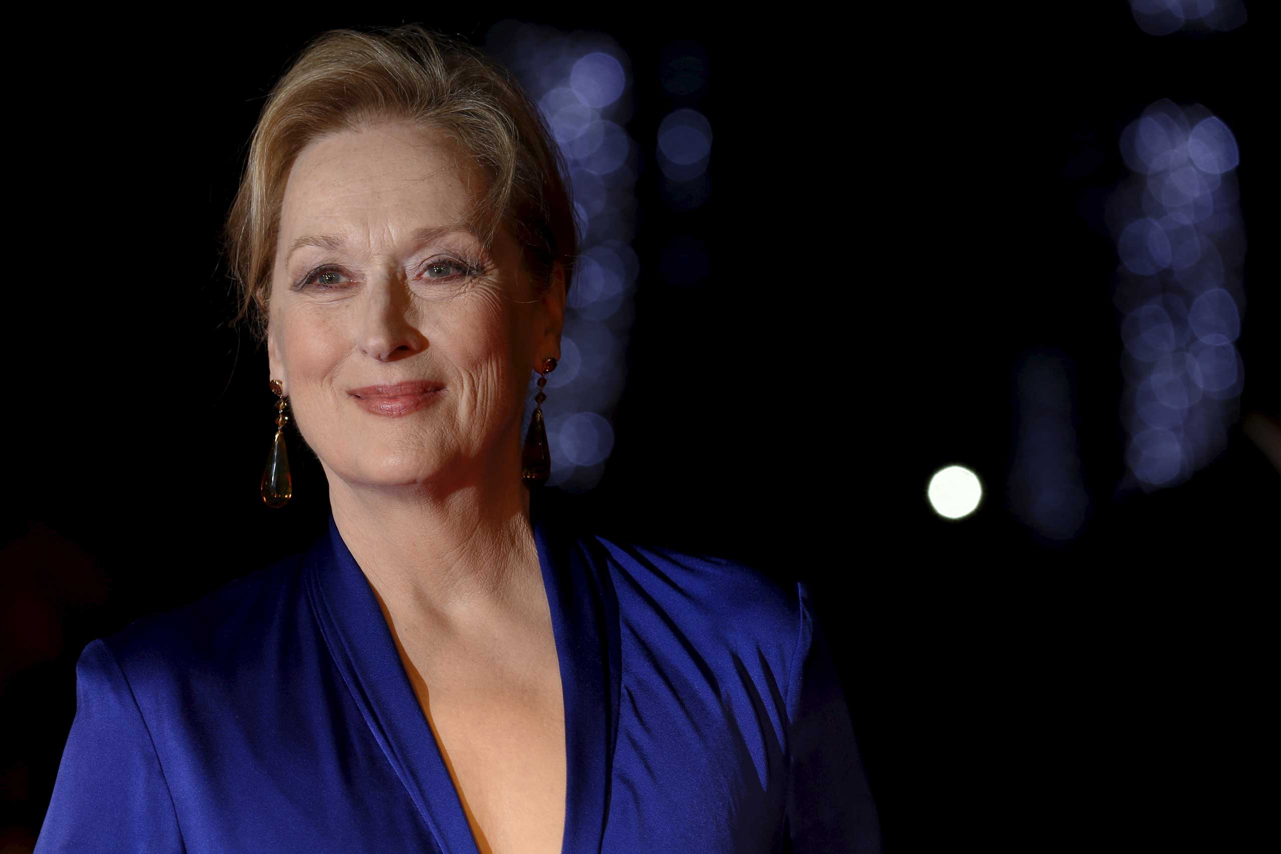 Actress Meryl Streep arrives for the Gala screening of the film  Suffragette  for the opening night of the British Film Institute (BFI) Film Festival at Leicester Square in London Oct. 7, 2015.