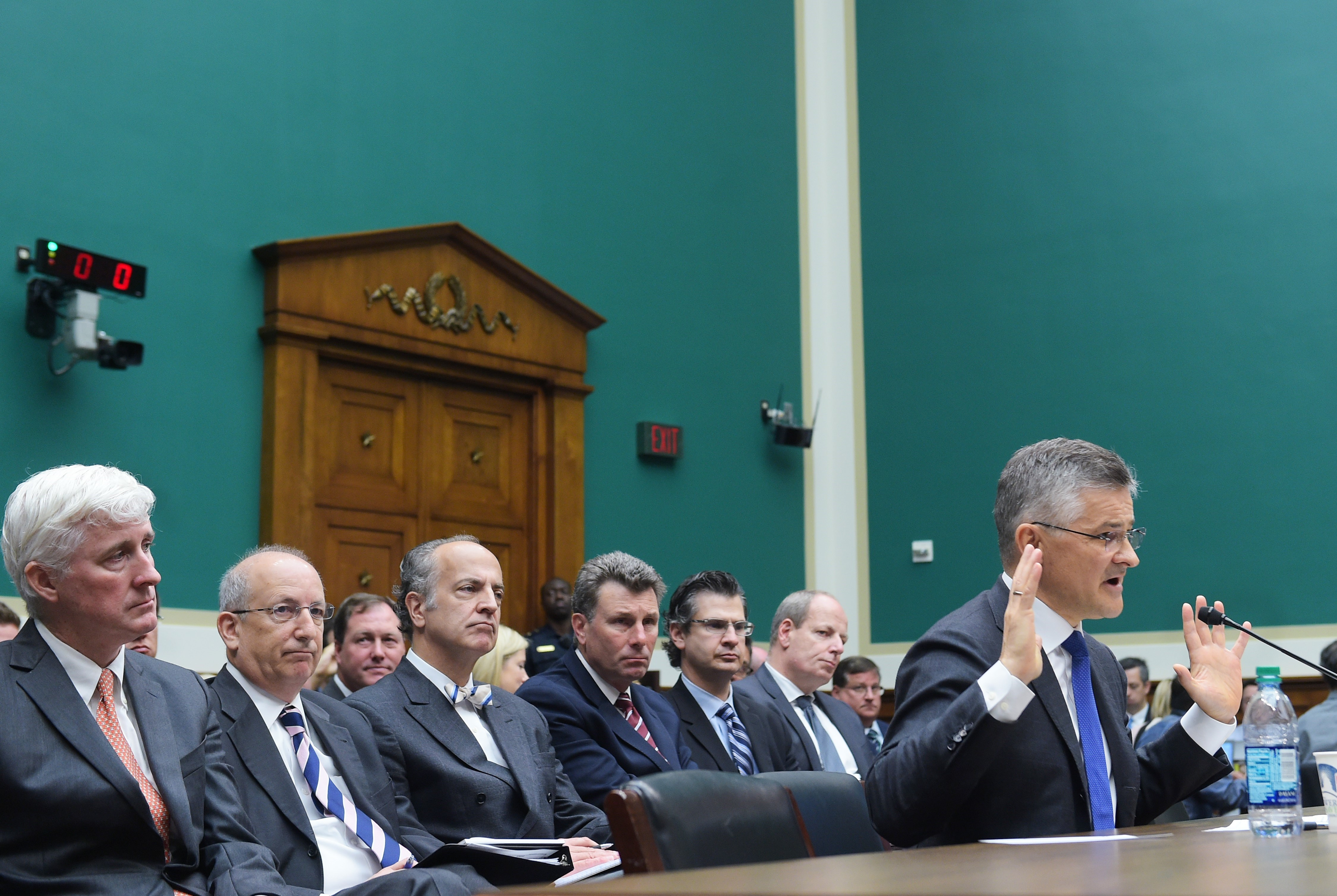 Michael Horn testifies before the House Committee on Energy and Commerce Subcommittee in the Rayburn House Office Building on Oct. 8, 2015 in Washington, DC.
