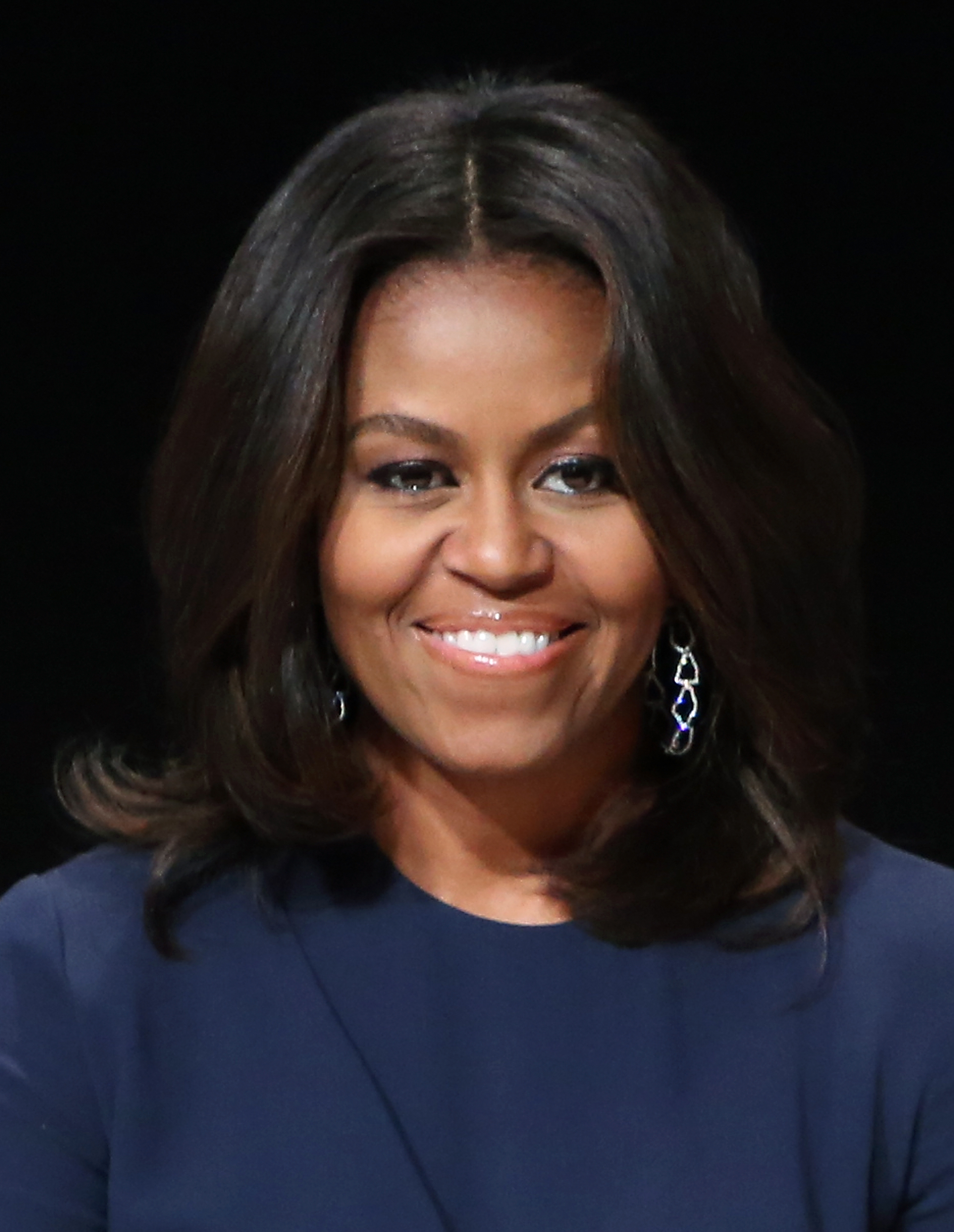 First Lady of the United States Michelle Obama at the  Let Girls Learn  Global Conversation in New York City on Sept. 29, 2015.