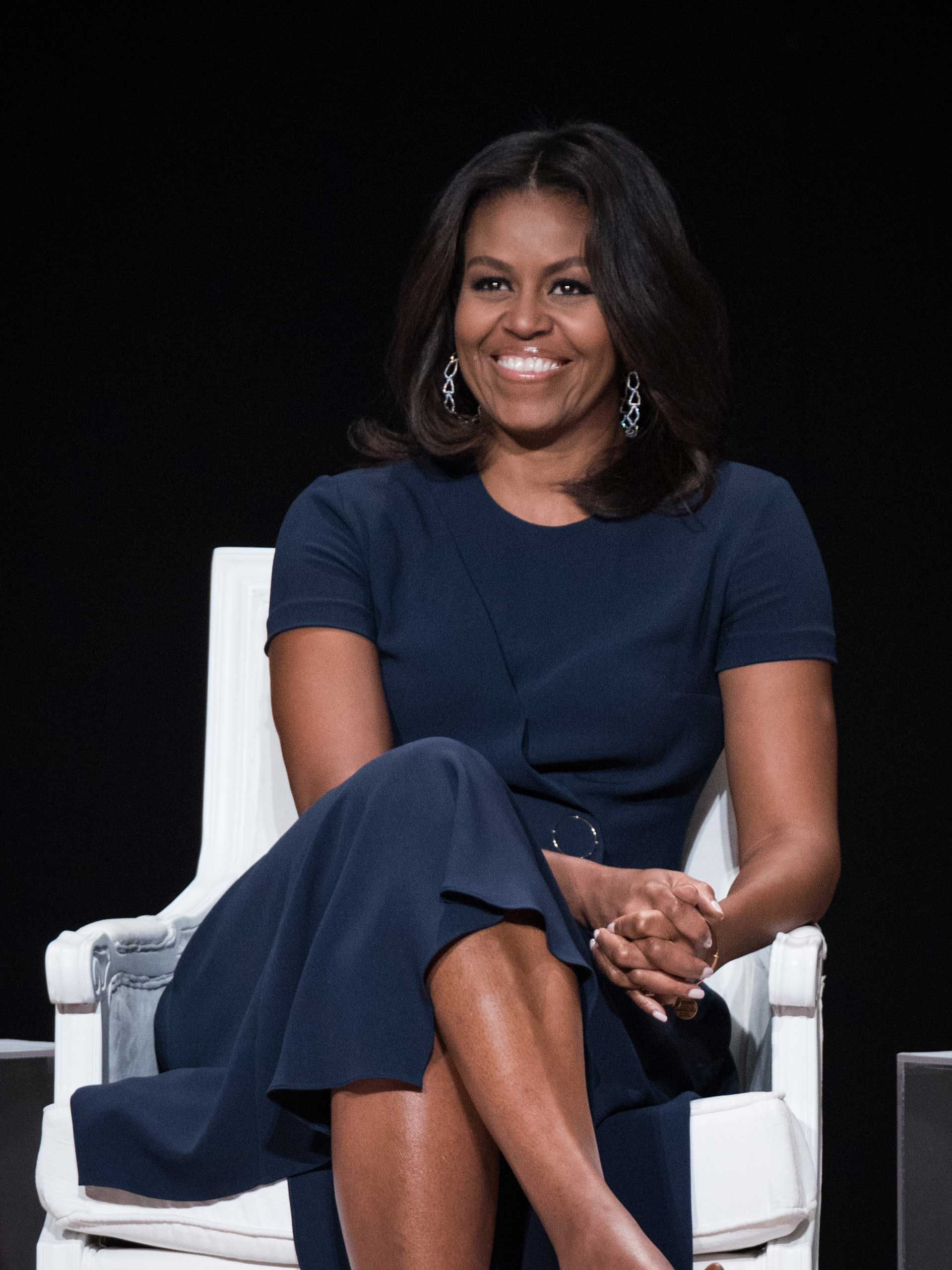 First Lady of the United States Michelle Obama joins the   Let Girls Learn  Global Conversation at The Apollo Theater in New York City, on Sept. 29, 2015.