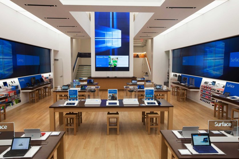 Microsoft's new flagship store opening on Oct. 26, 2015 in New York City.