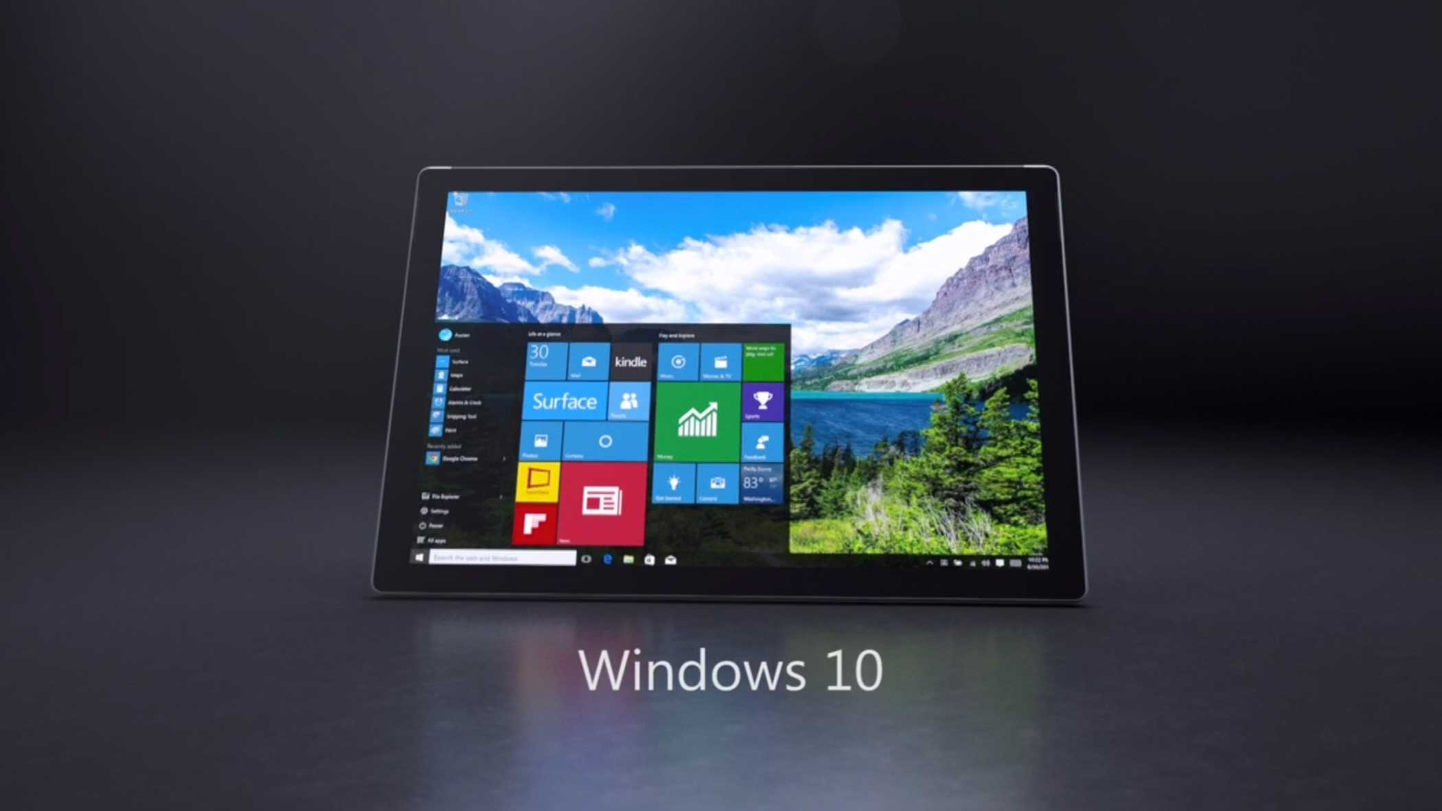 The Surface Pro 4 runs the new Windows 10