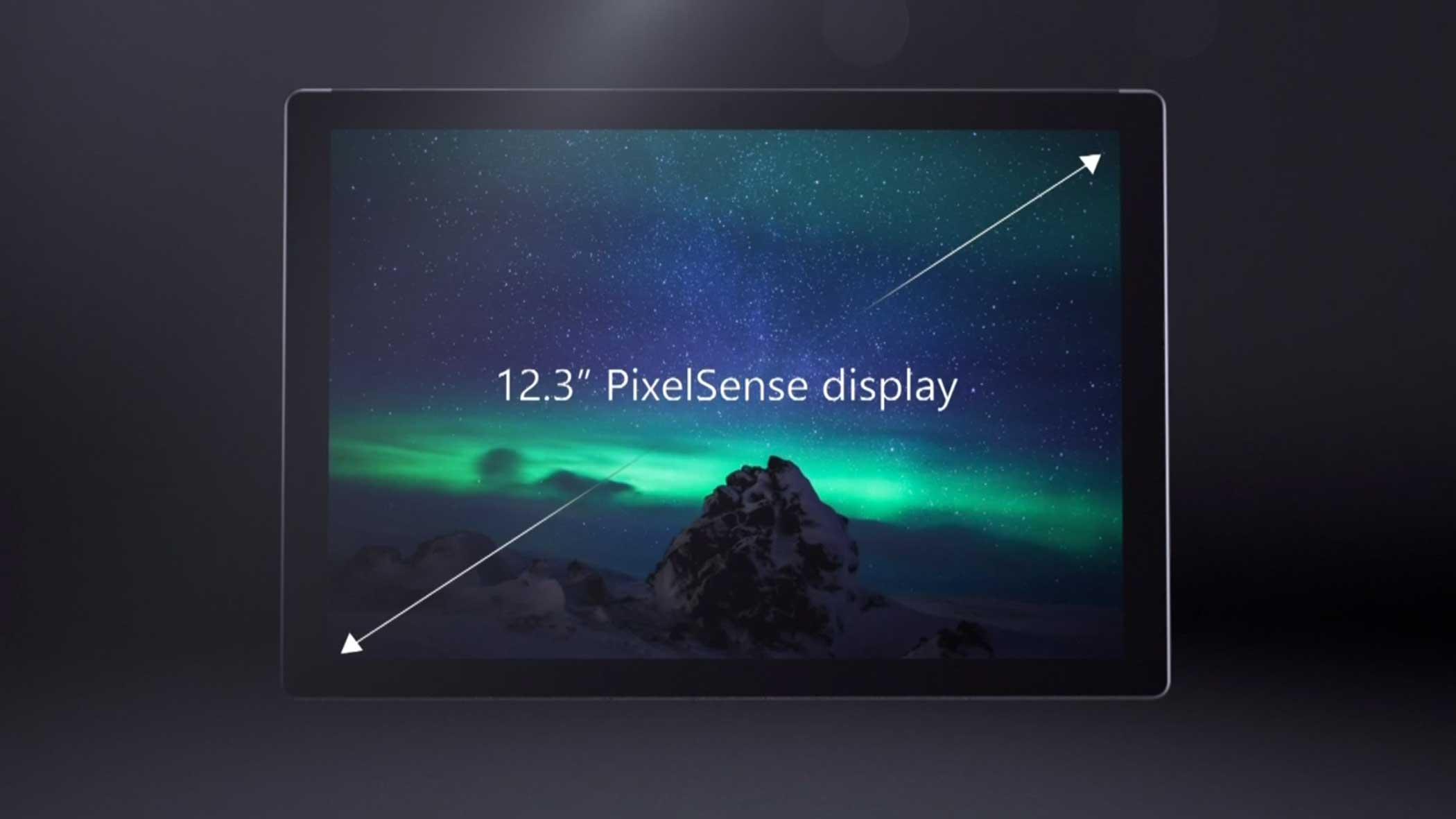 It's display is slightly smaller than Apple's iPad Pro