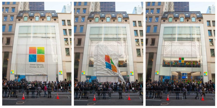The Microsoft Store unveiling on Oct. 26, 2015.